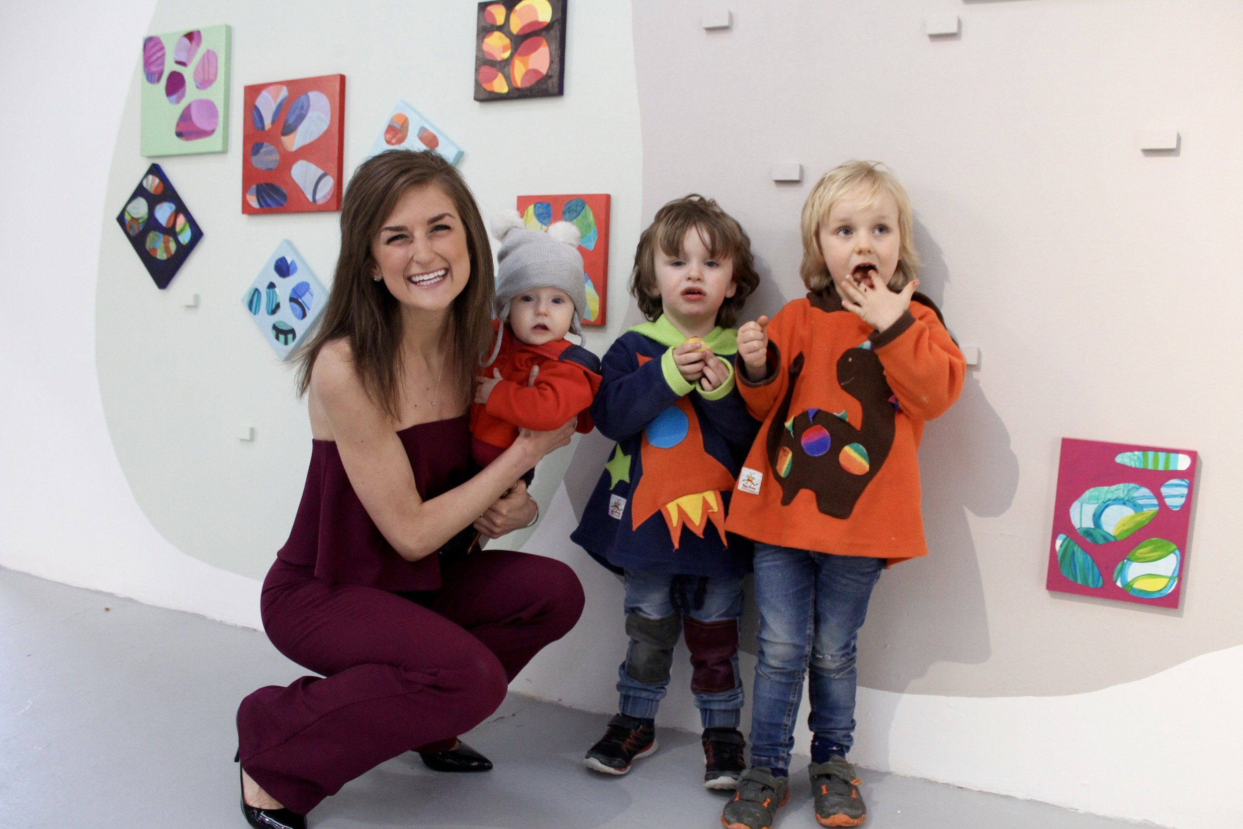 At the exhibition opening of  Periphery  with some of my favorite little people!