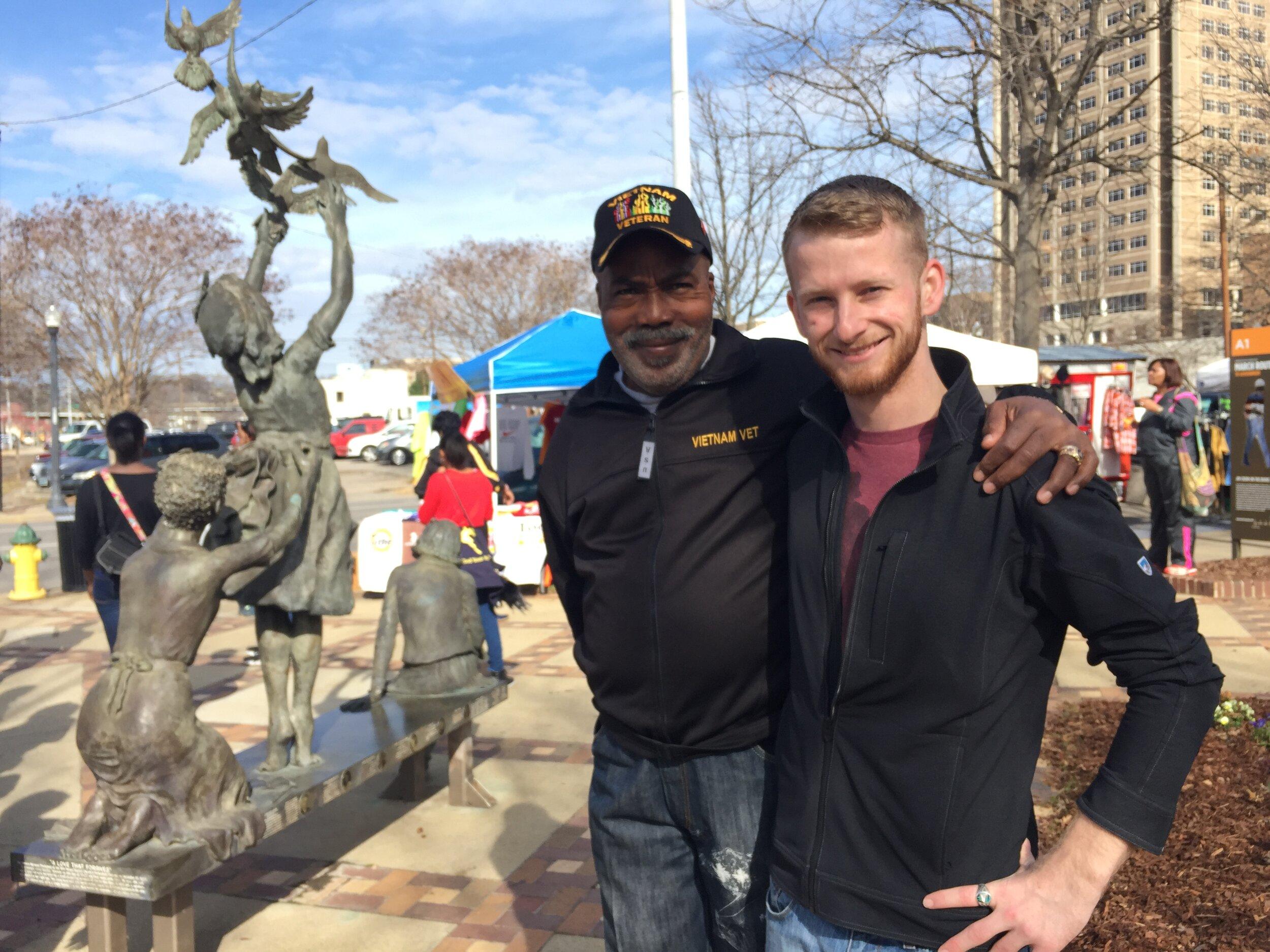 My son, Will, with George in Birmingham, AL.