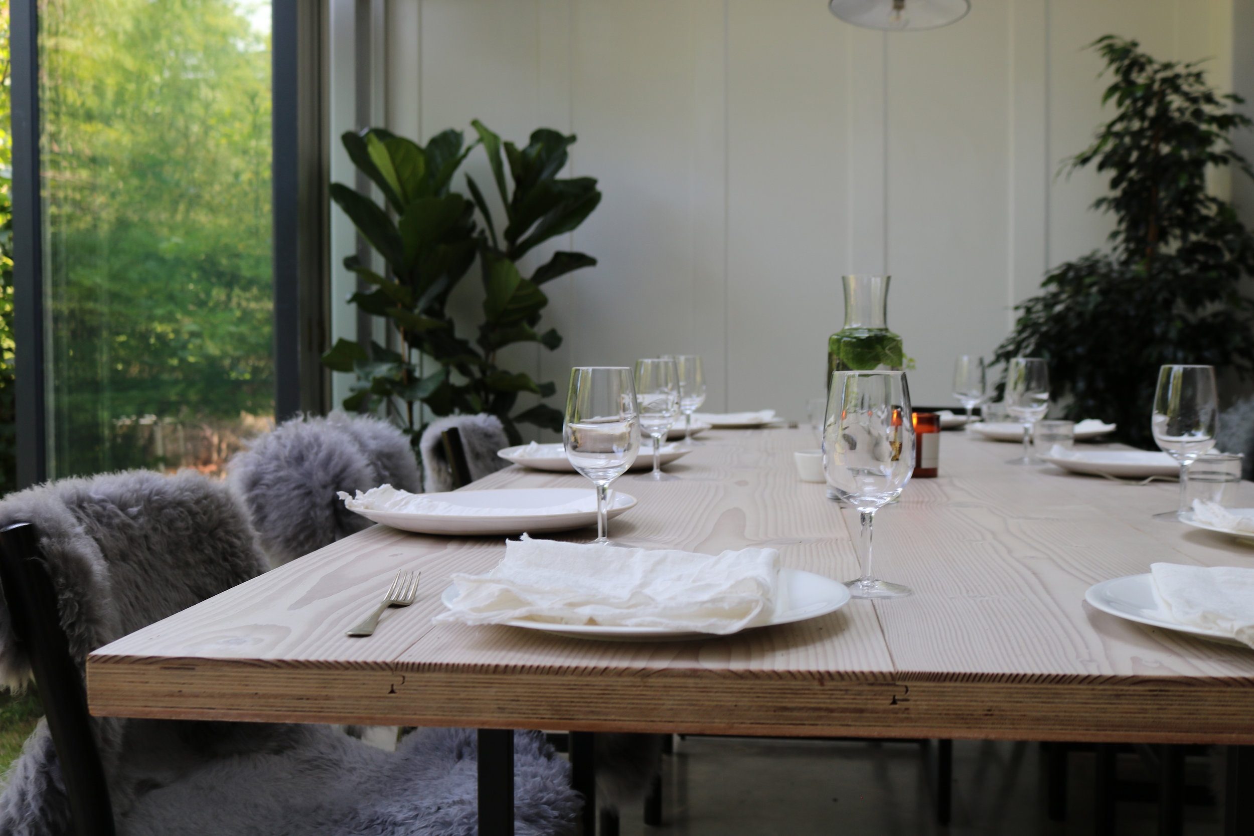 Wooden table set for a feast | London Lifestyle Photoshoot | Creative Direction