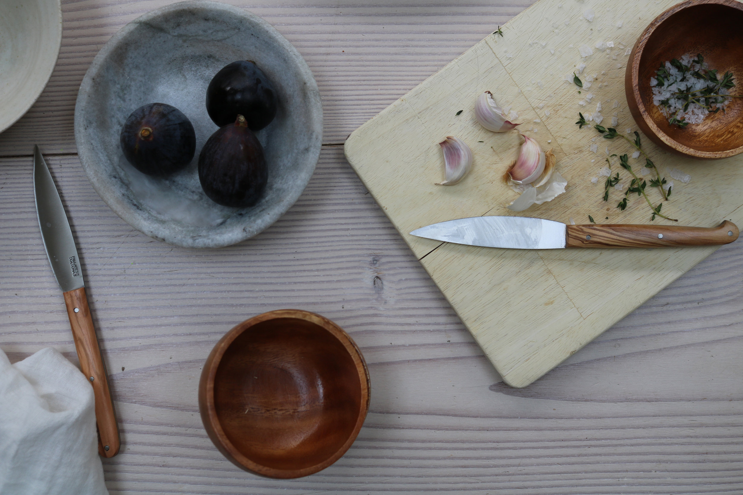 Plums and herbs a wooden table | London Lifestyle Photoshoot | Creative Direction