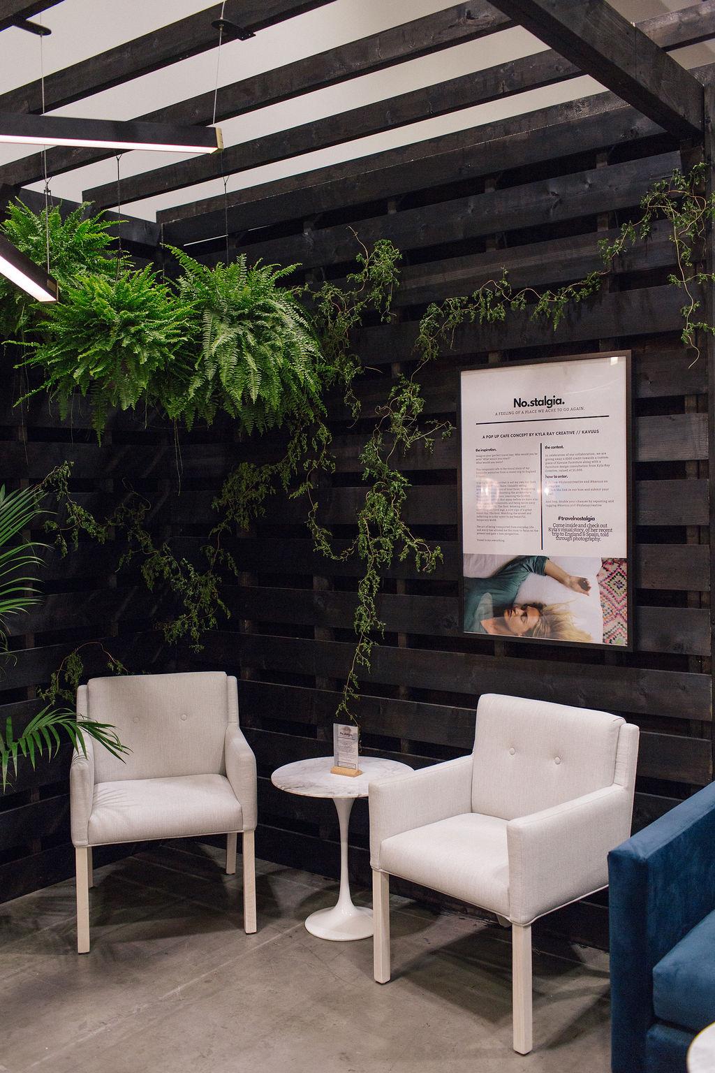 IDS West Cafe | Creative Direction | Designer Furniture | Greenstems | Botanicals