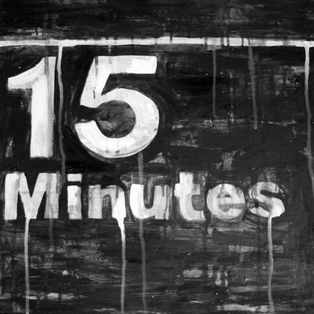 "Raul Barquet 15 Minutes, 2017 Acrylic and enamel on wood panel 20"" x 20"""
