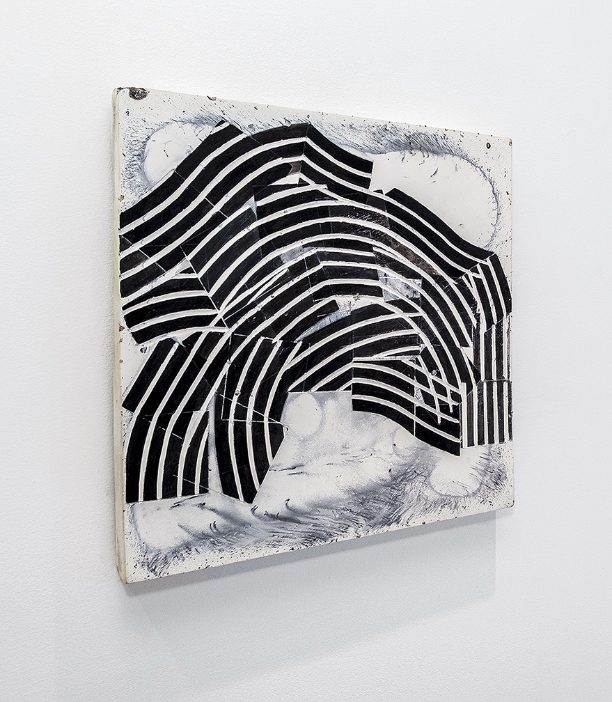 """Emily Weiskopf Pixan Paths, 2016 Solid Plaster, oxides and ink 16"""" x 16"""" x 1"""""""