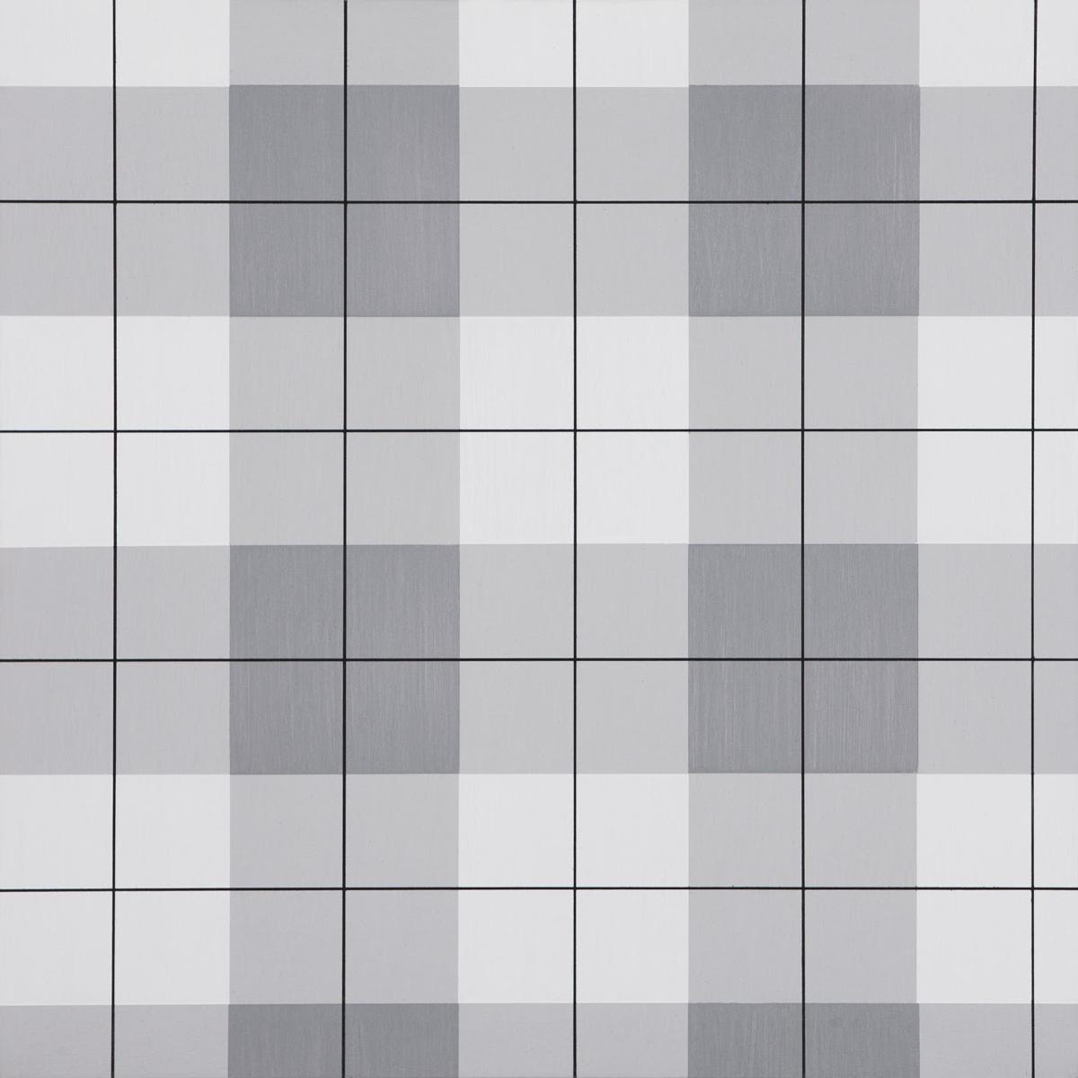"Plaid 2, 36"" x 36"", Acrylic latex on panel, 2014"