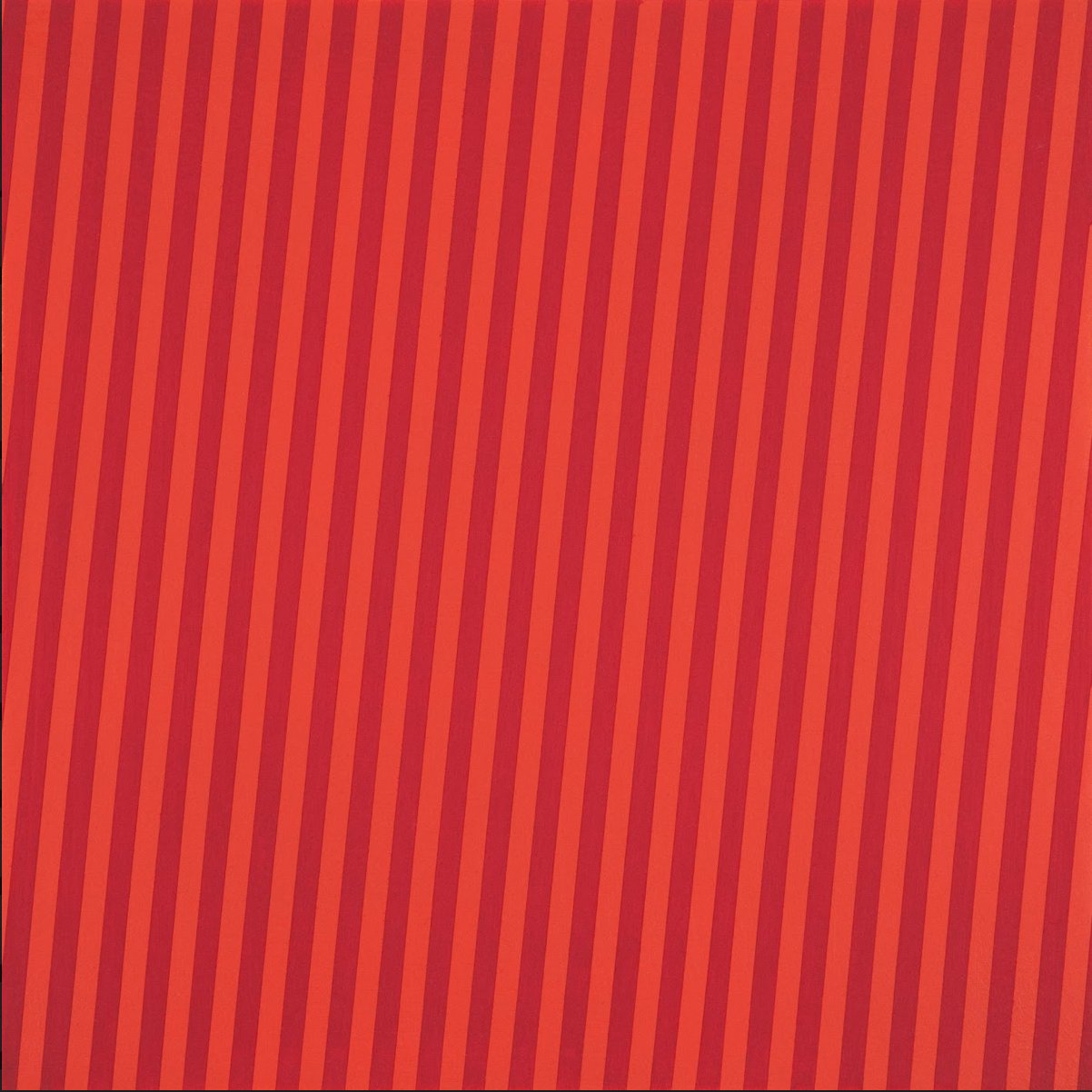 "Stripes 5, 12"" x 12"", Acrylic latex on panel, 2015"