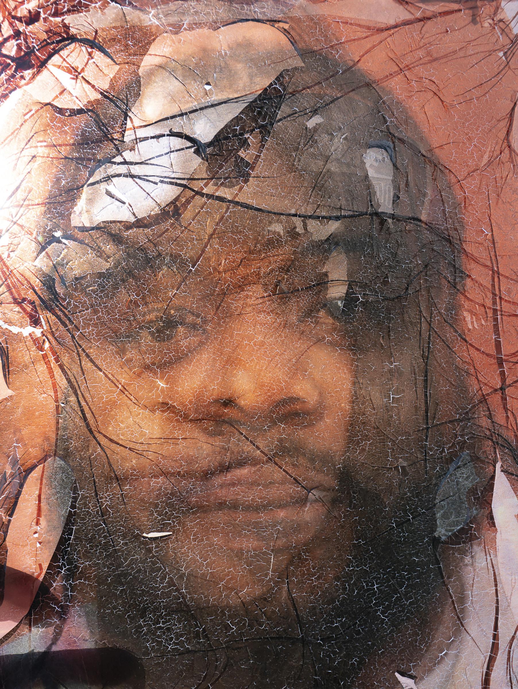 """Fiona Aboud, Harlem Mash Up, Photography, Acrylic Paint, LED, Water on Plexiglass, 8"""" x 10"""""""