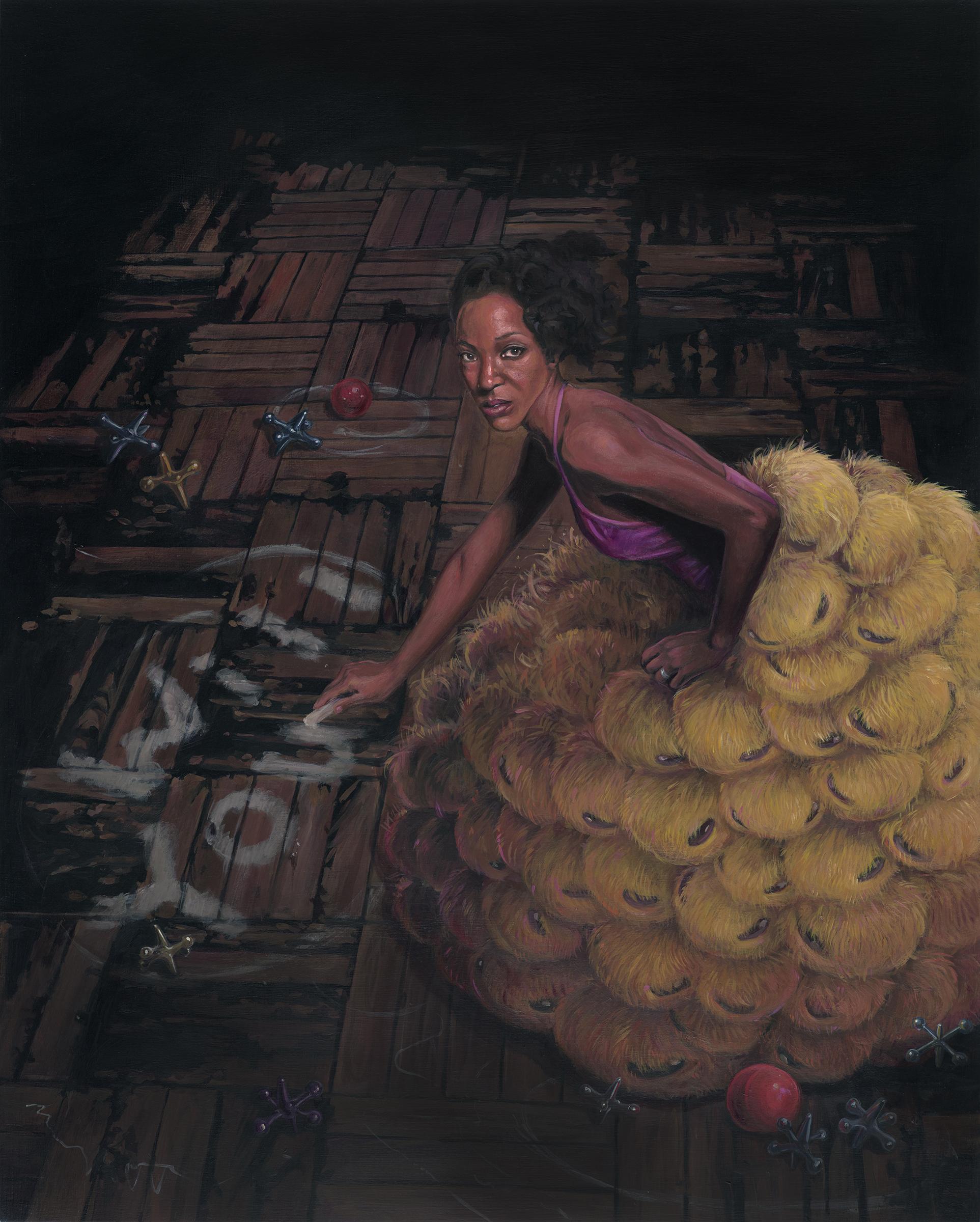"Gigi Chen, Will You, Acrylic on Wood Panel, 16"" x 20"""