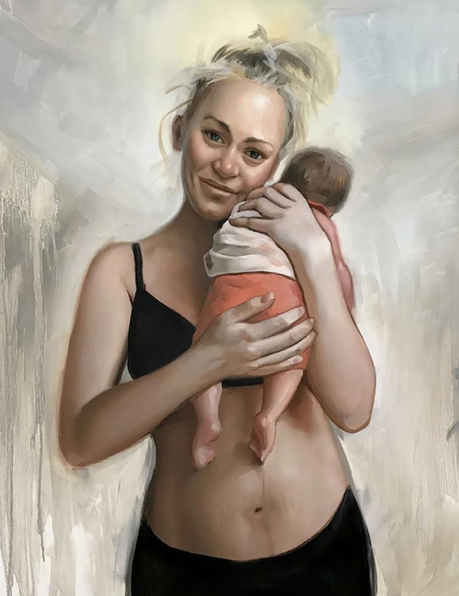 """Michael Connors, Krista, Oil on Canvas, 22"""" x 28"""""""
