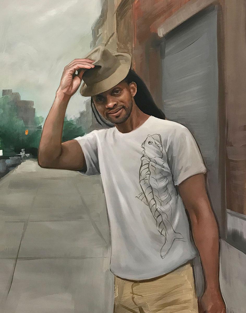 "Michael Connors Diallo Oil on Canvas 22x28"""