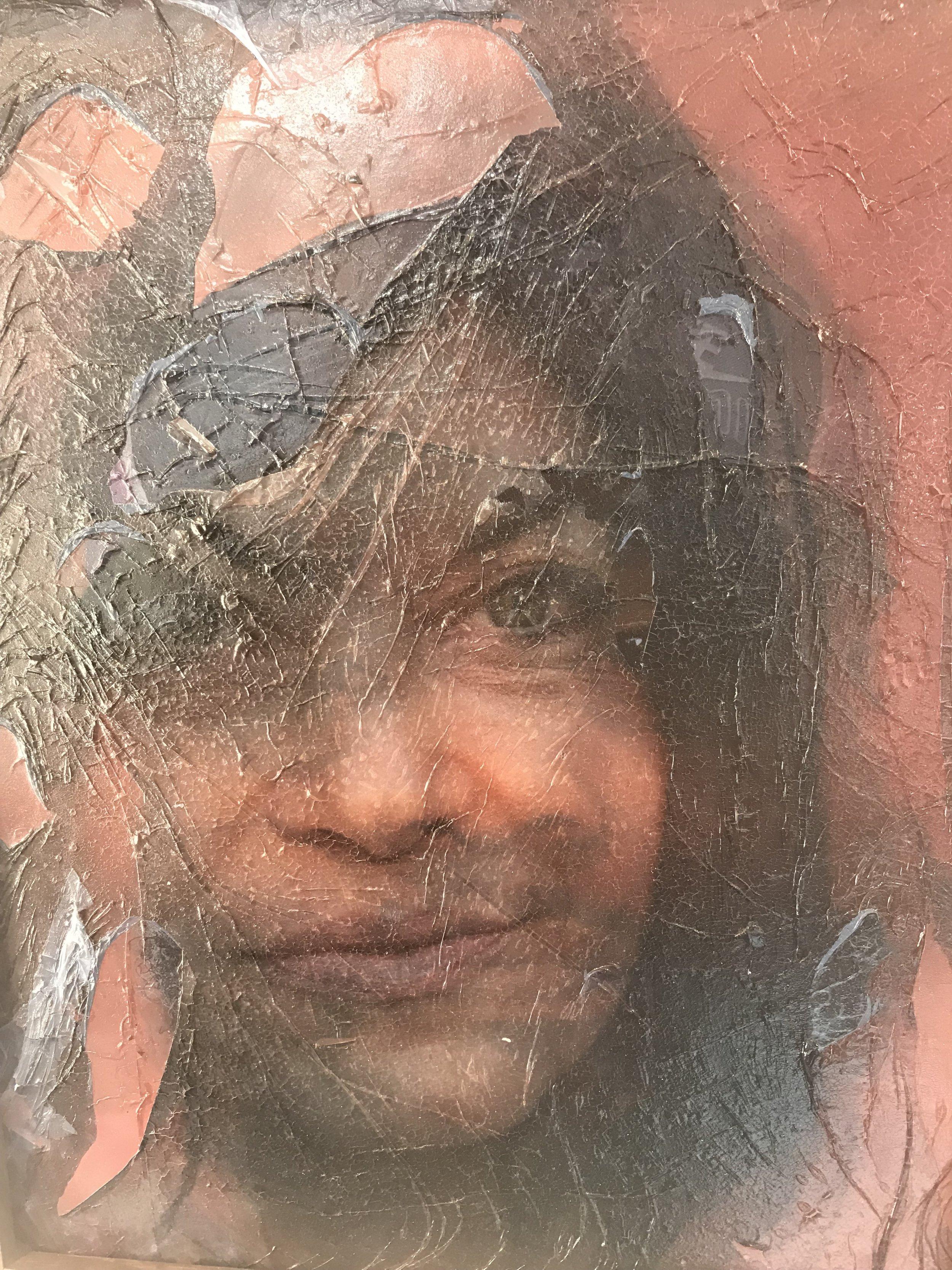 """Fiona Aboud Harlem Mash Up Photography, Acrylic Paint, LED, Water on Plexiglass 8x10"""""""