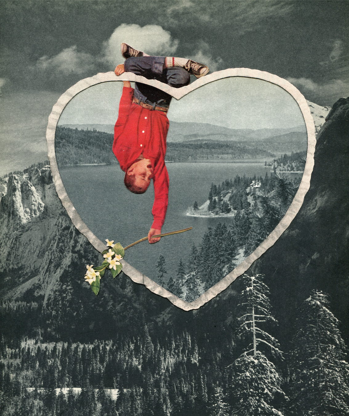 """Jay Riggio All That Was in Your Heart Hand-cut paper from original source material & glue on cold press paper 11 x 15"""""""