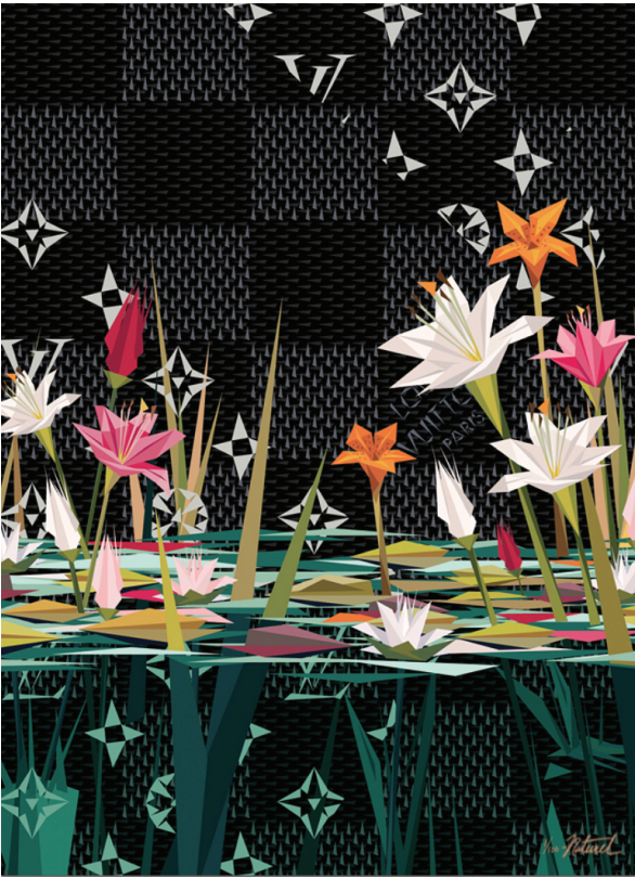 """Naturel LUXURIOUS LILIES II Archival Print on 21mil, 3 40g Cold Press Natural Paper, 27.5 x 20"""""""