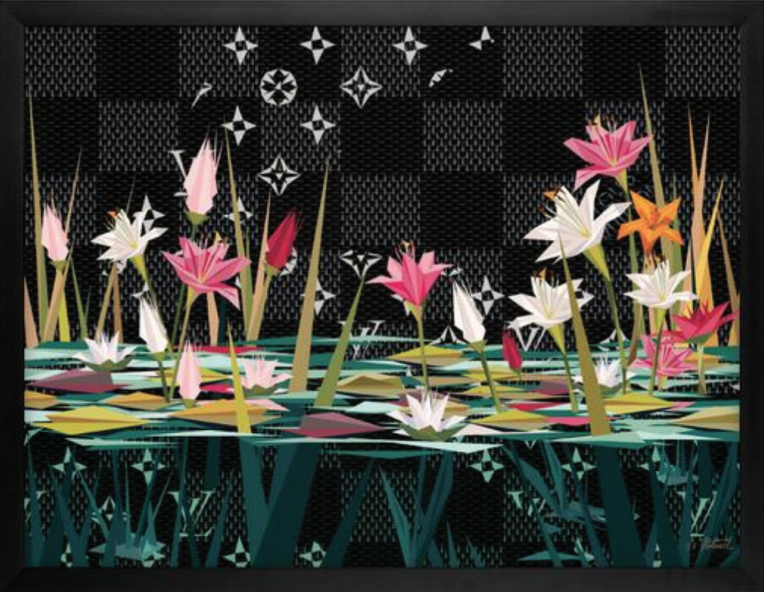 """Naturel GRAND LUXURIOUS LILIES II Archival Print on 21mil, 340g Cold Press Natural Paper, 40 x 30"""""""