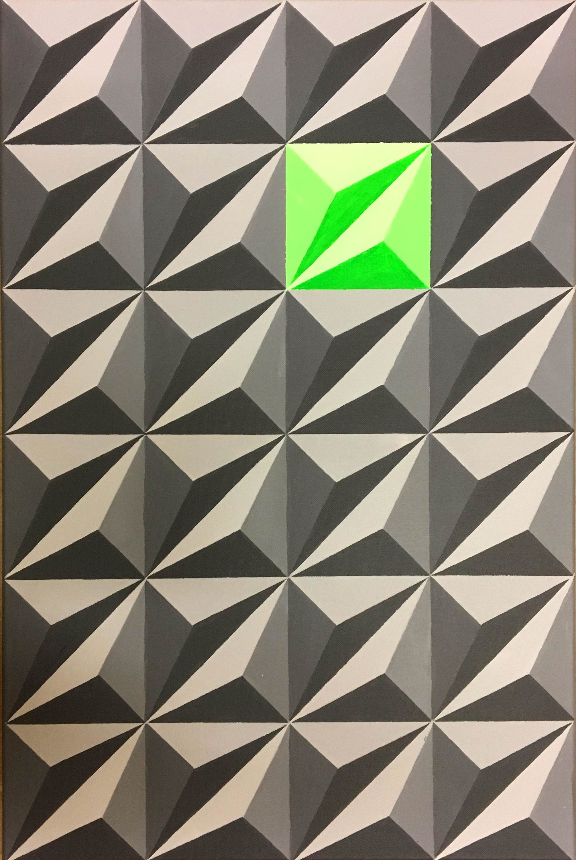 "Dominic Joyce Untitled 2 Acrylic on canvas, 30 x 20"""