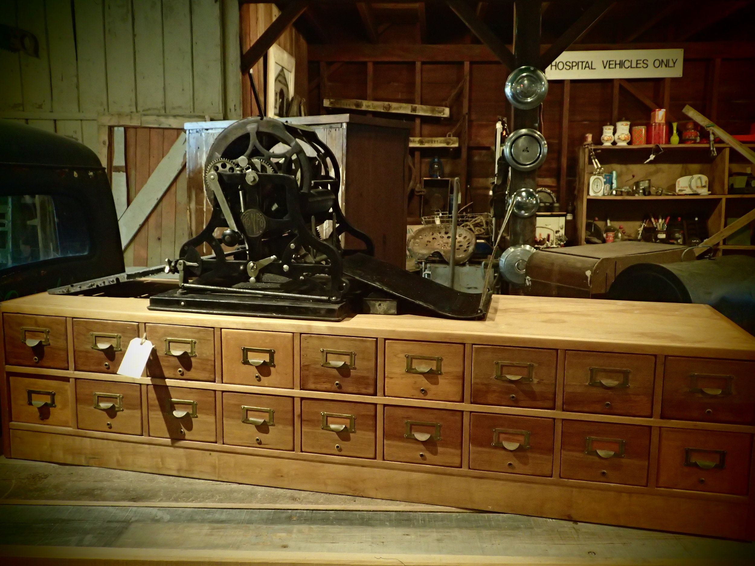 """""""The Roneo duplicator"""" printing machine from the 1890's."""