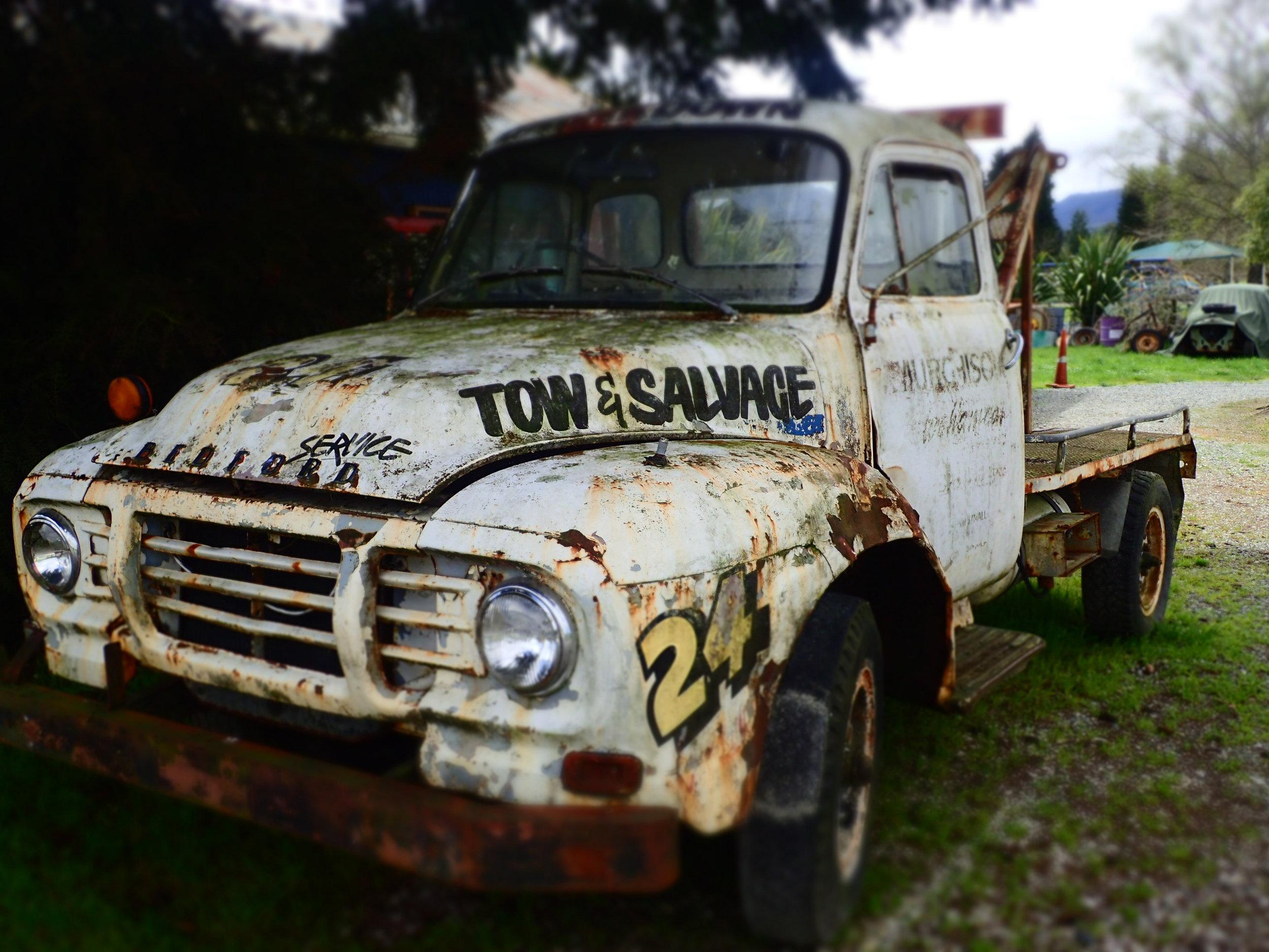 Classic kiwi Bedford tow truck