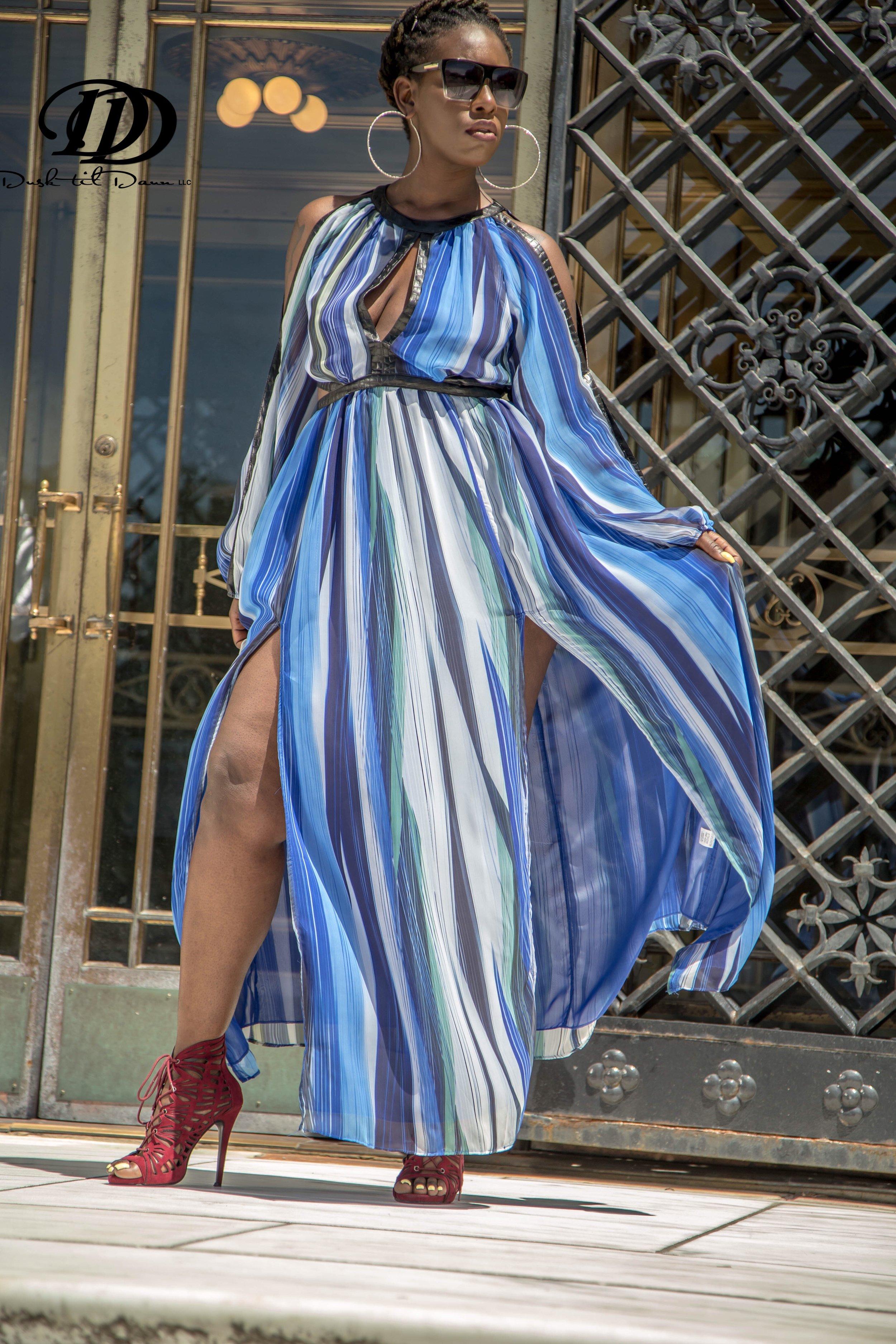 Model:  T. Kellz   Dress : Elite Couture Boutique   Fashion Stylist : Dusk 'Til Daun, Llc   Photographer:  Sweet Obsession Films