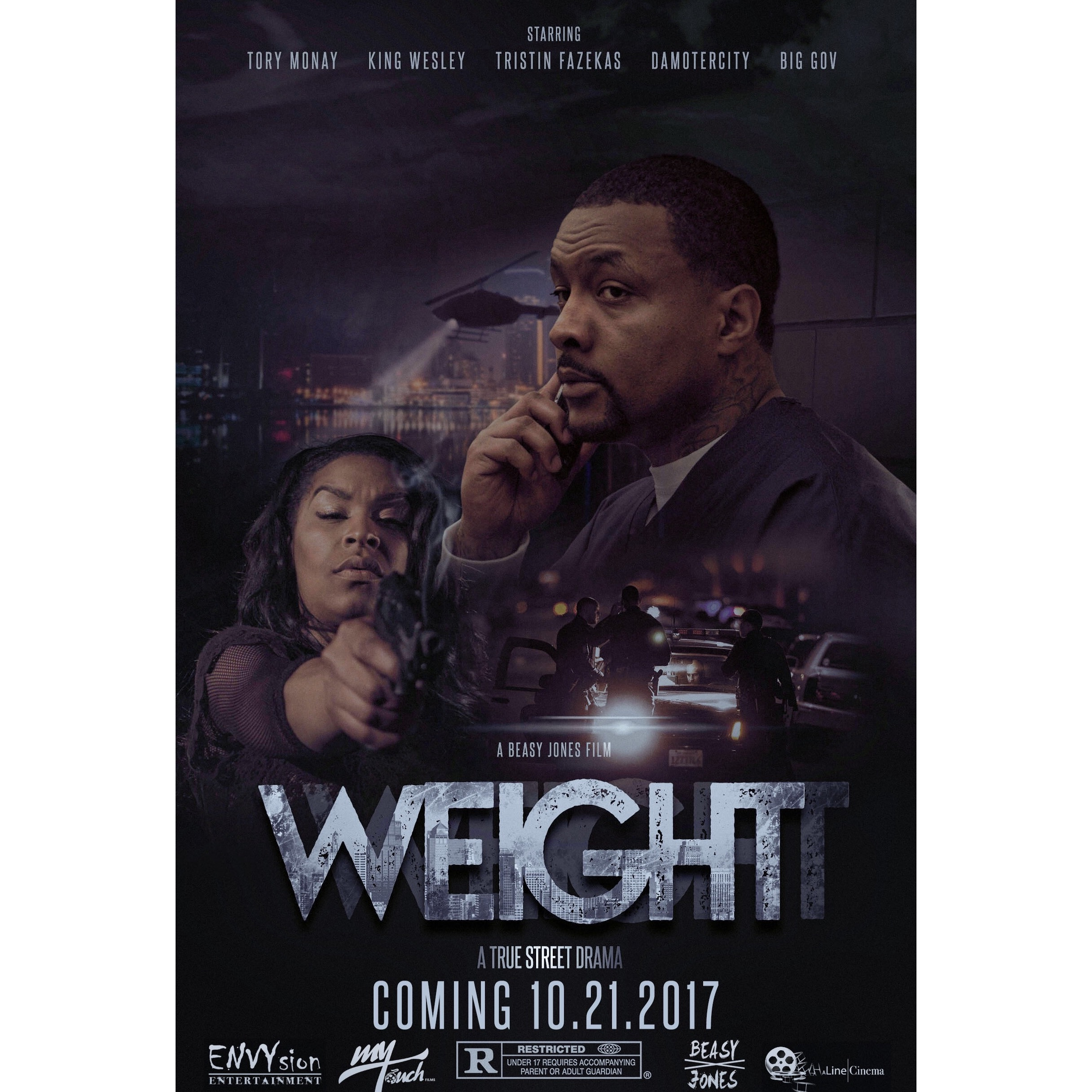 Weight The Movie Coming to theaters 10.21.17    Leading Actress  Tory Monay   Styling provided by  Dusk 'Til Daun, Llc.   Outfits Provided by : TheLuxuryLocker.com , Spoiledforever.com , Glowupclothing.com , & RunwayCouture.Com