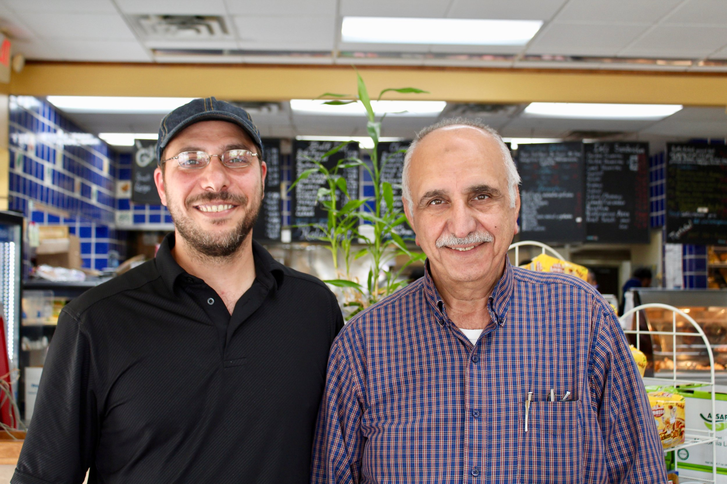 This father and son, Jameel and Sam, run the Mediterranean Bakery.