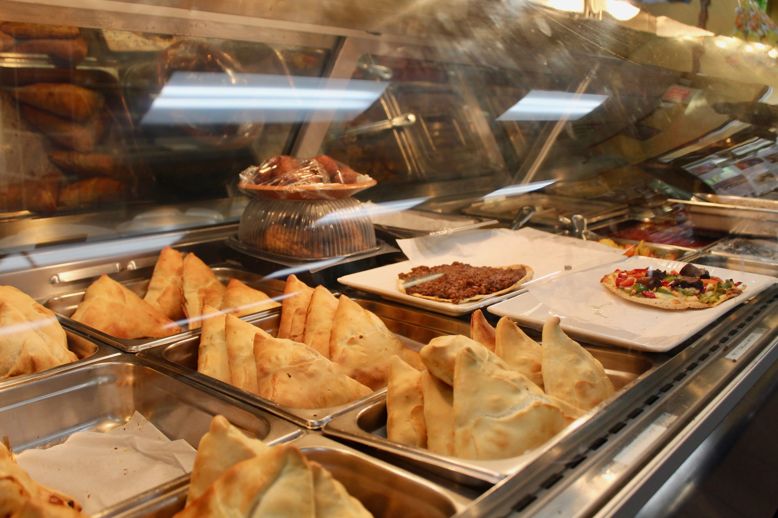 The delicious triangle pockets, or fatayer pies, are the most popular food.