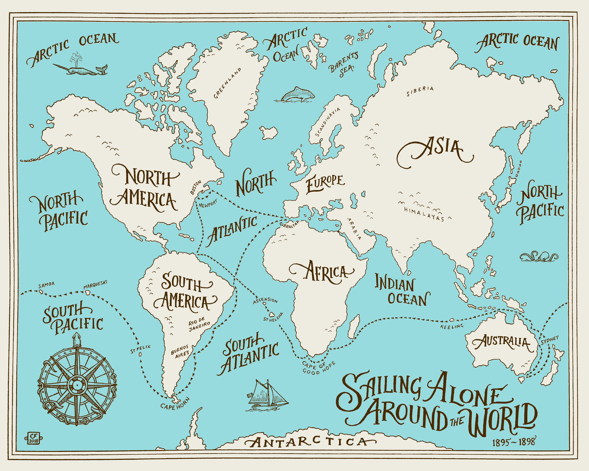Sailing Alone Around the World Map blue on cream-02.png