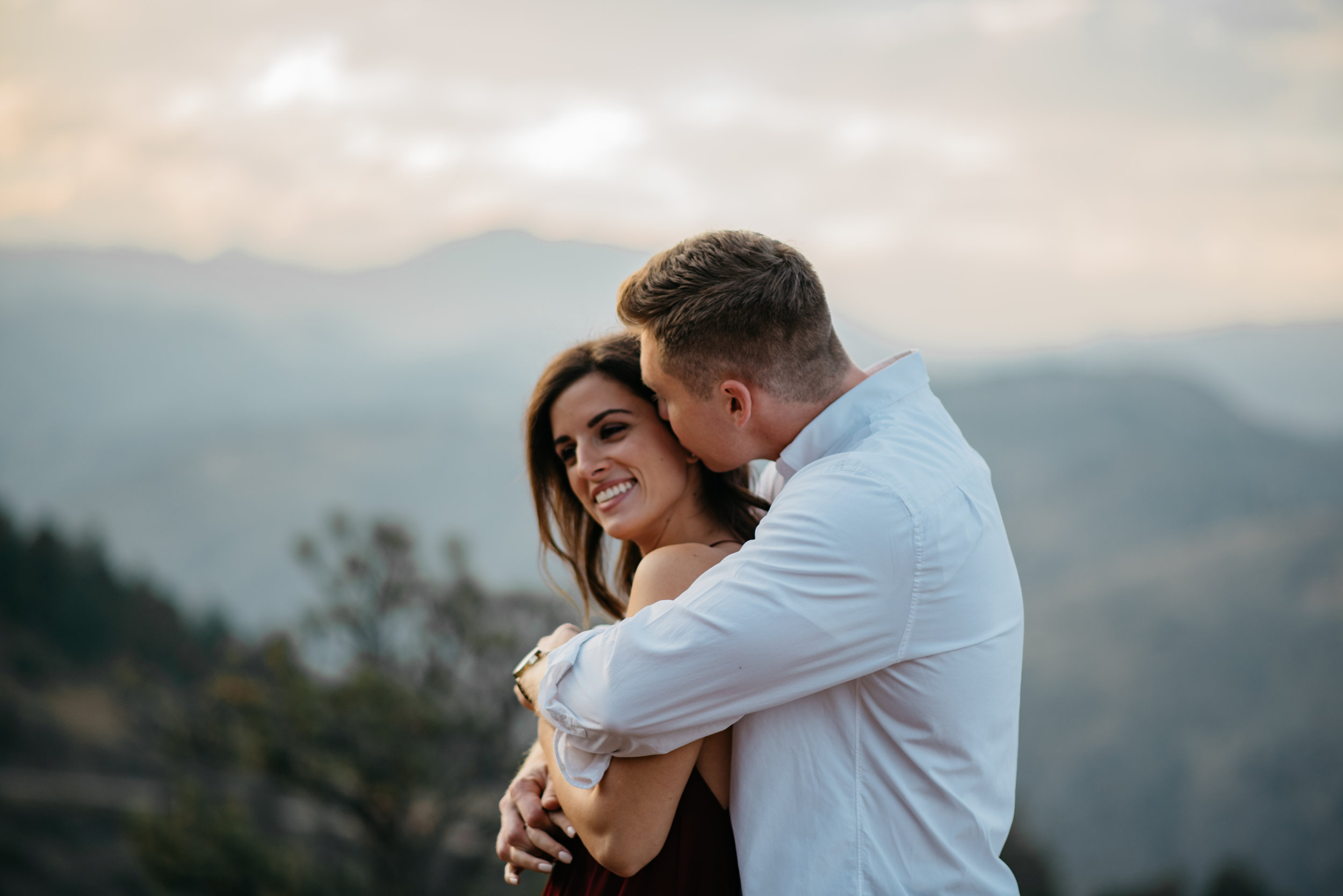 Lookout Mountain, Colorado engagement session.
