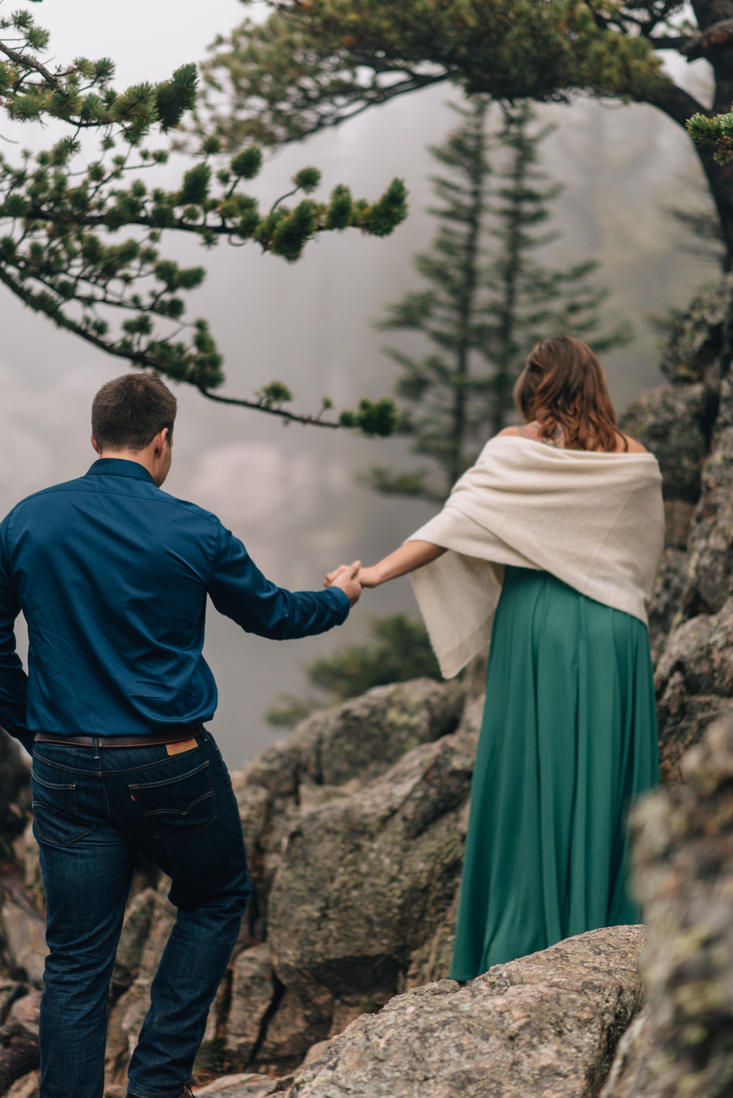 Intimate mountain wedding in Colorado.