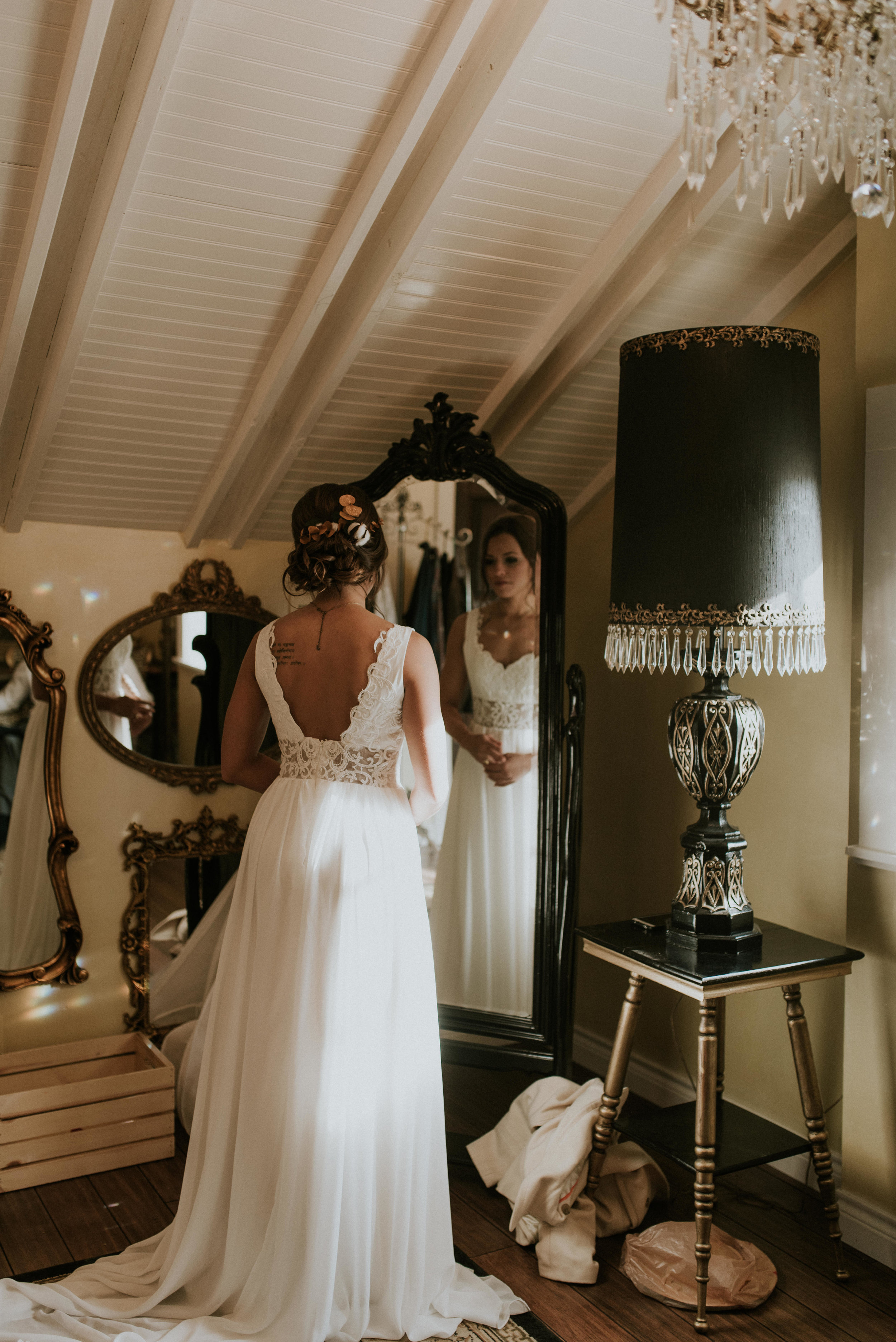 Boho wedding at Lionsgate Event Center in the Chandelier Barn