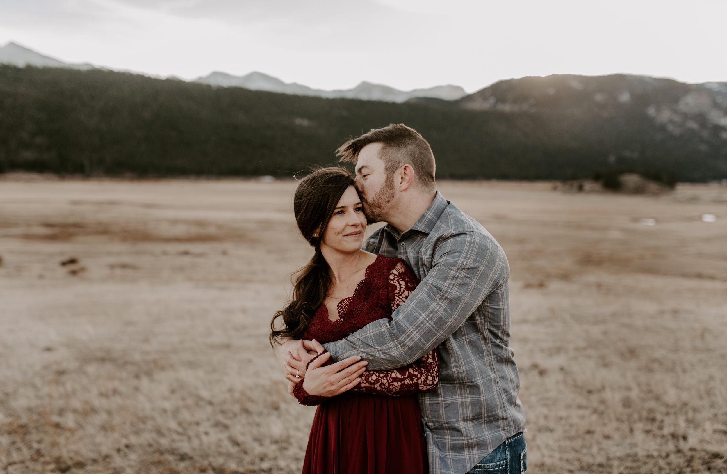 Denver, Colorado wedding photographer. Moraine Park in Estes Park adventure wedding photographer.