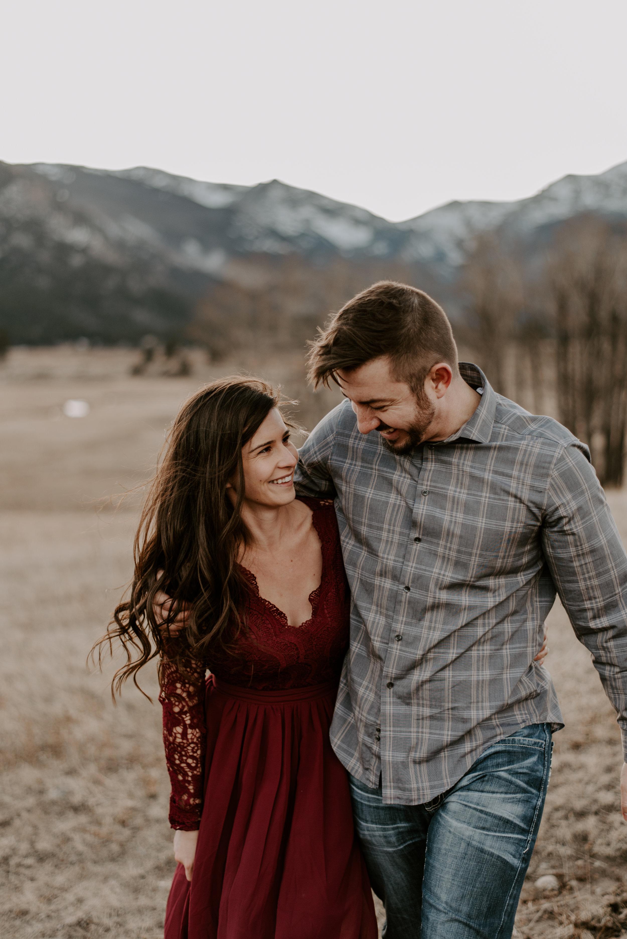 Boho intimate wedding at Moraine Park in Colorado.