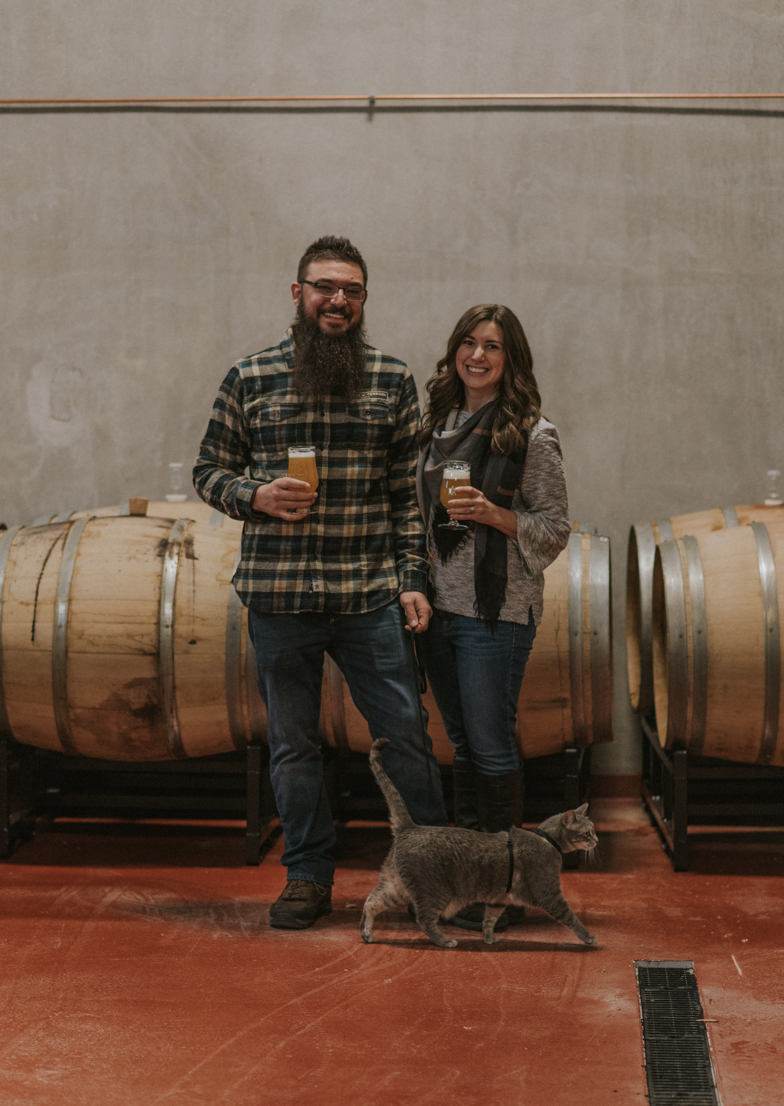 Colorado elopement and wedding photographer. Engagement and wedding at New Terrain Brewery in Golden, Colorado.