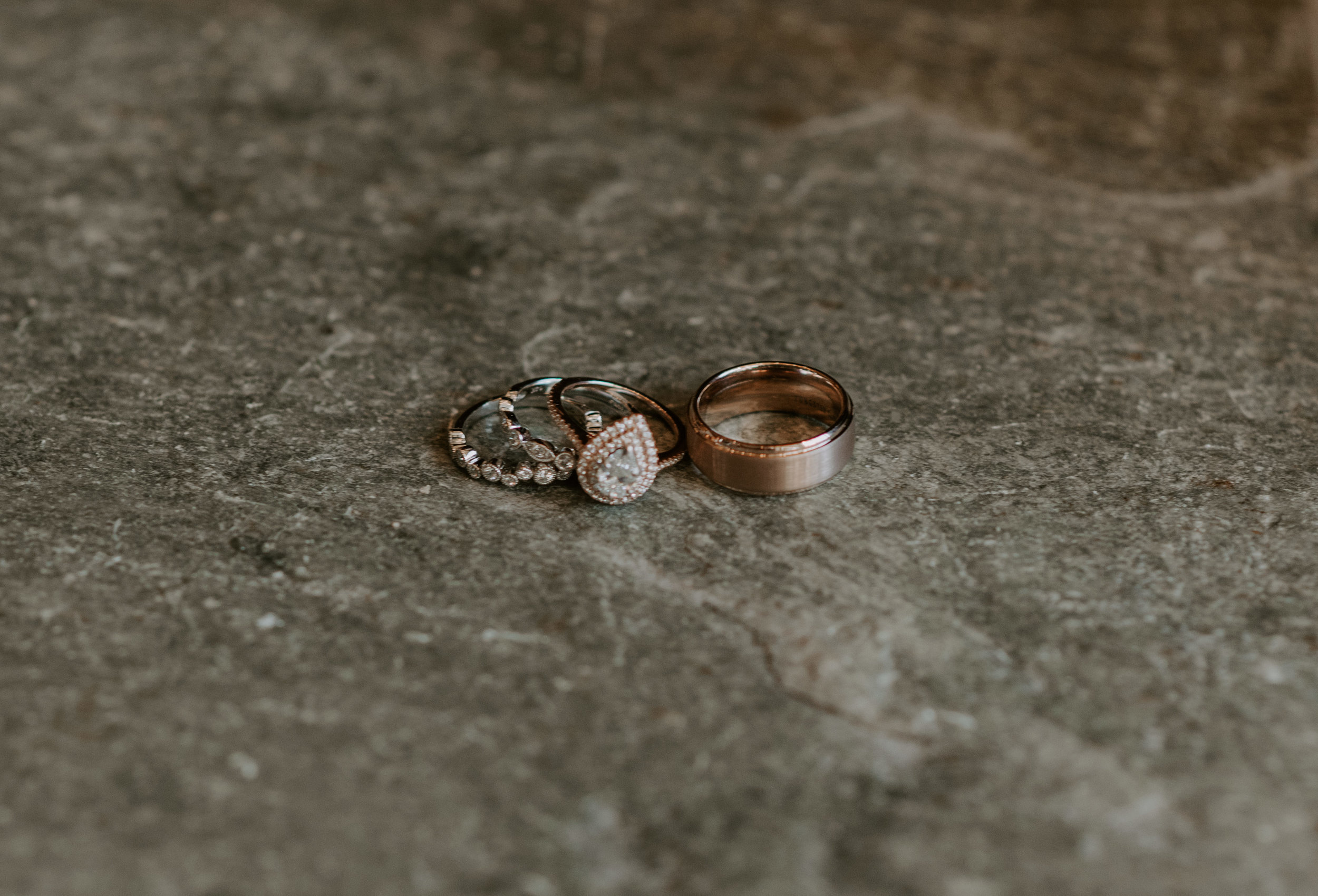 Detail shot of the bride and groom's rings taken by Alyssa Reinhold, a Colorado wedding and elopement photographer.