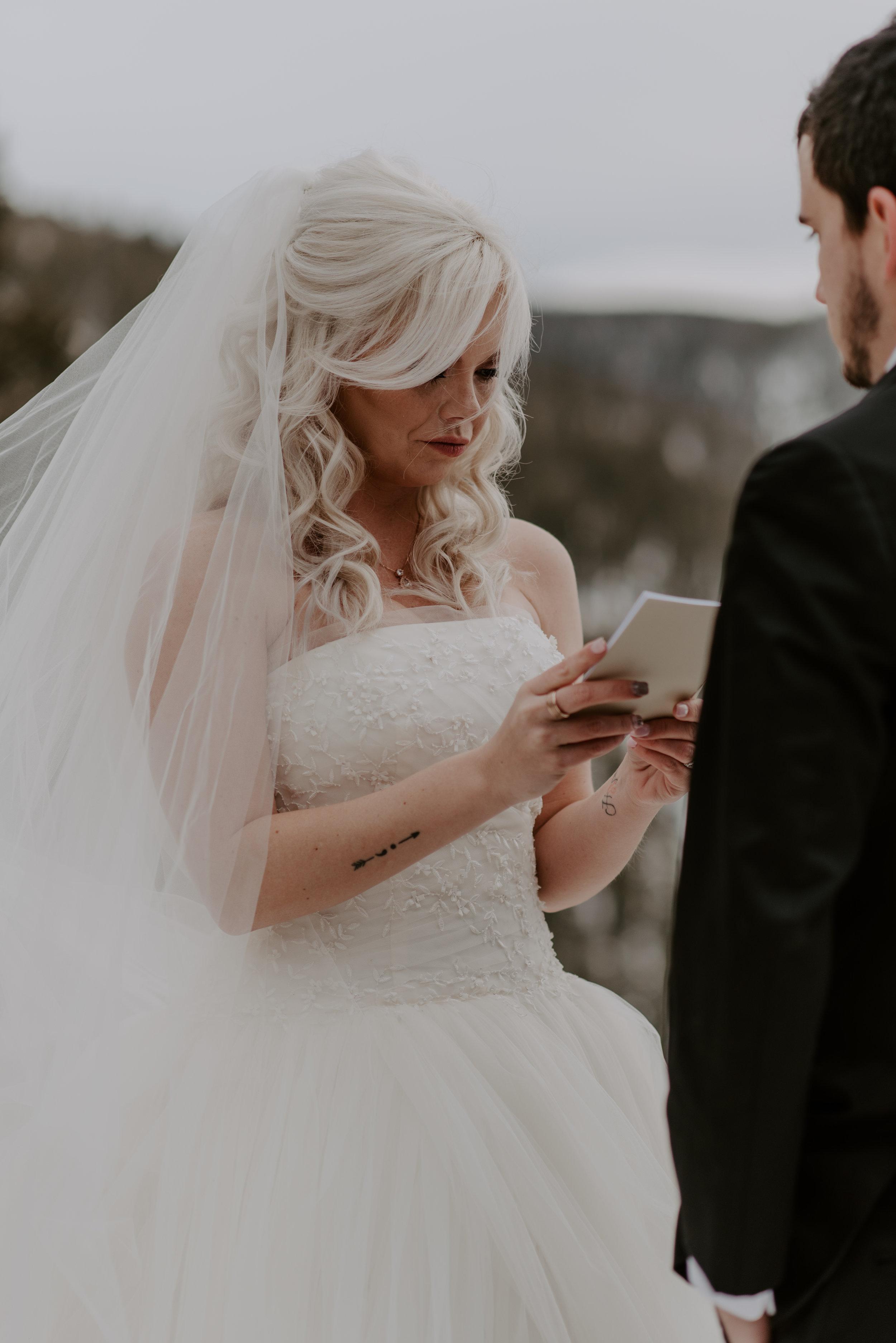 Sapphire Point winter elopement photography. Destination wedding and elopement photographer.