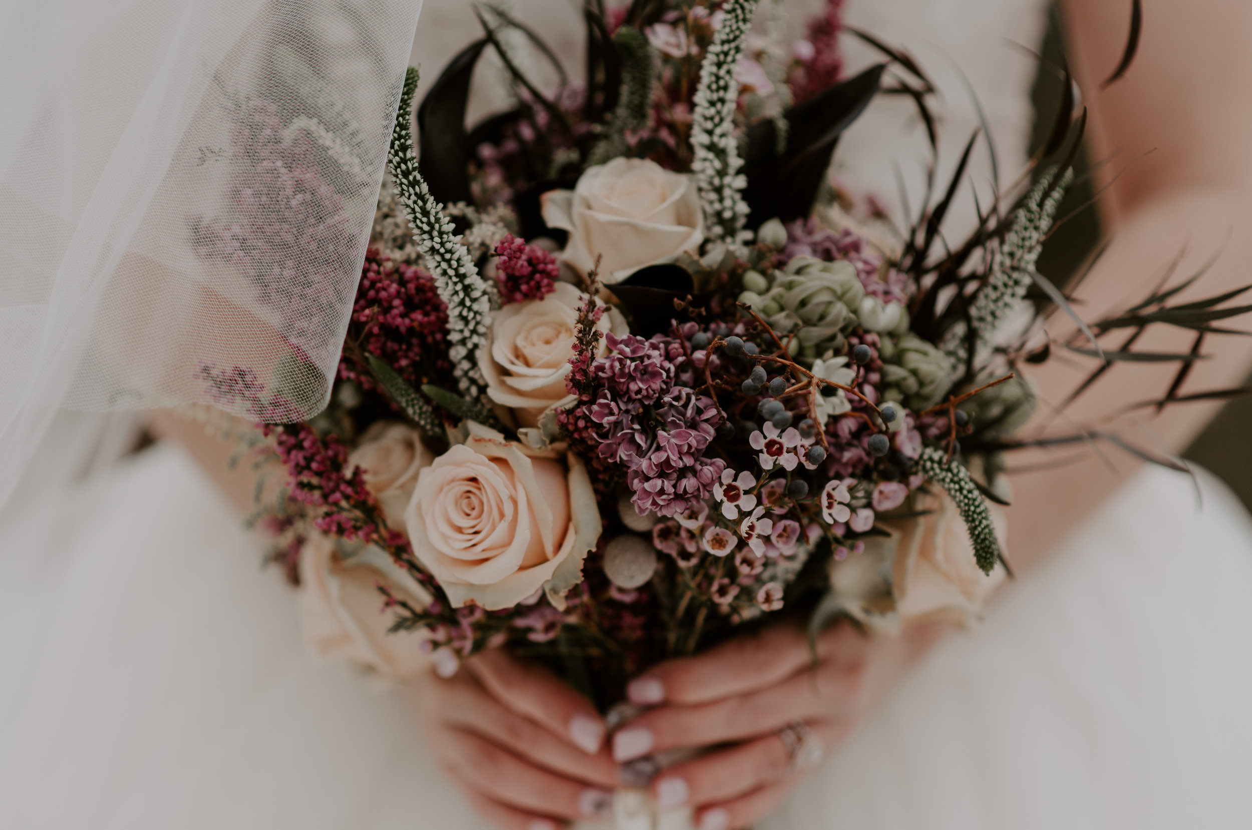 The bride's bouquet after their elopement at Sapphire Point. Colorado wedding and elopement photography.
