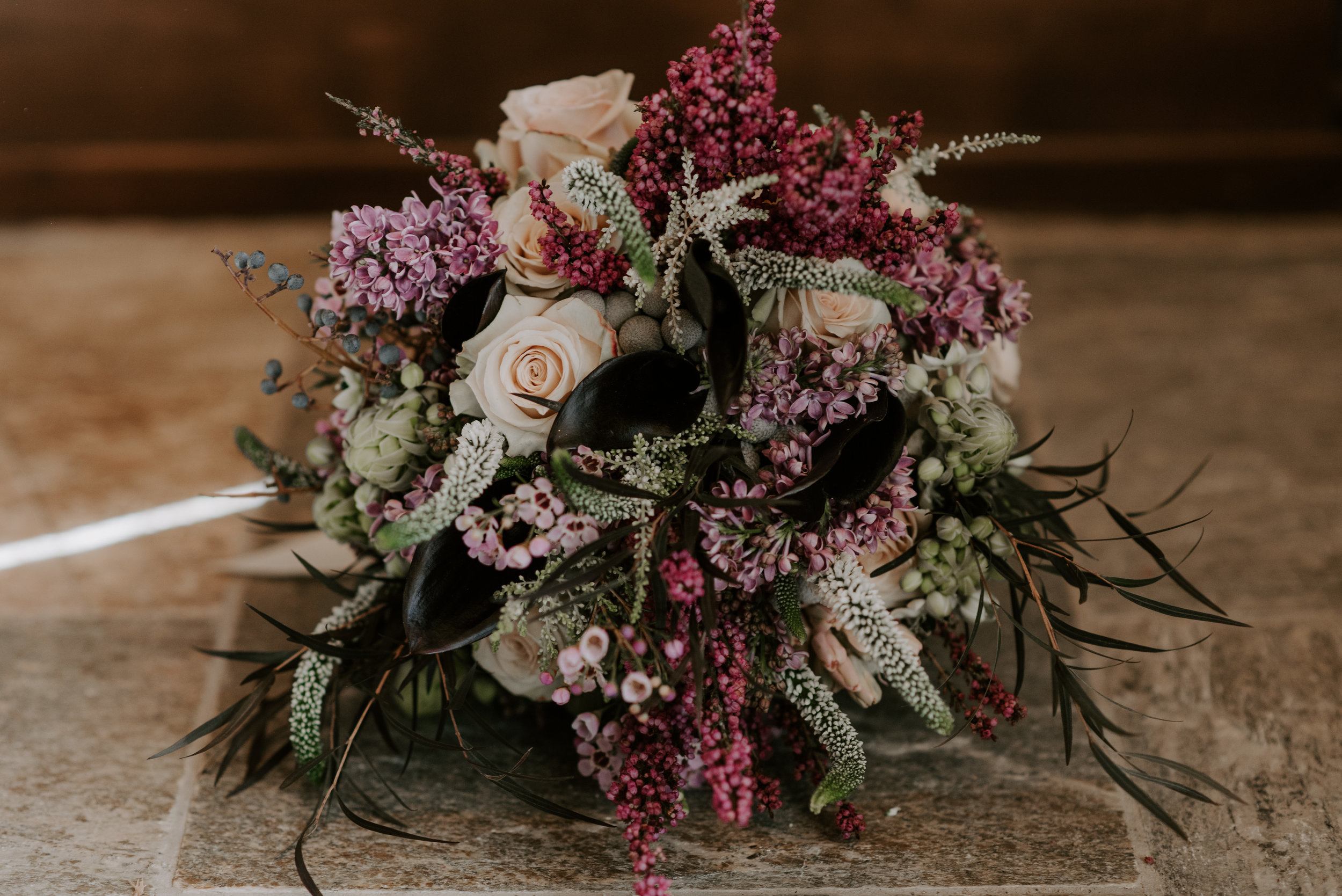Woodland Breckenridge in Colorado wedding bouquet for an elopement at Sapphire Point.