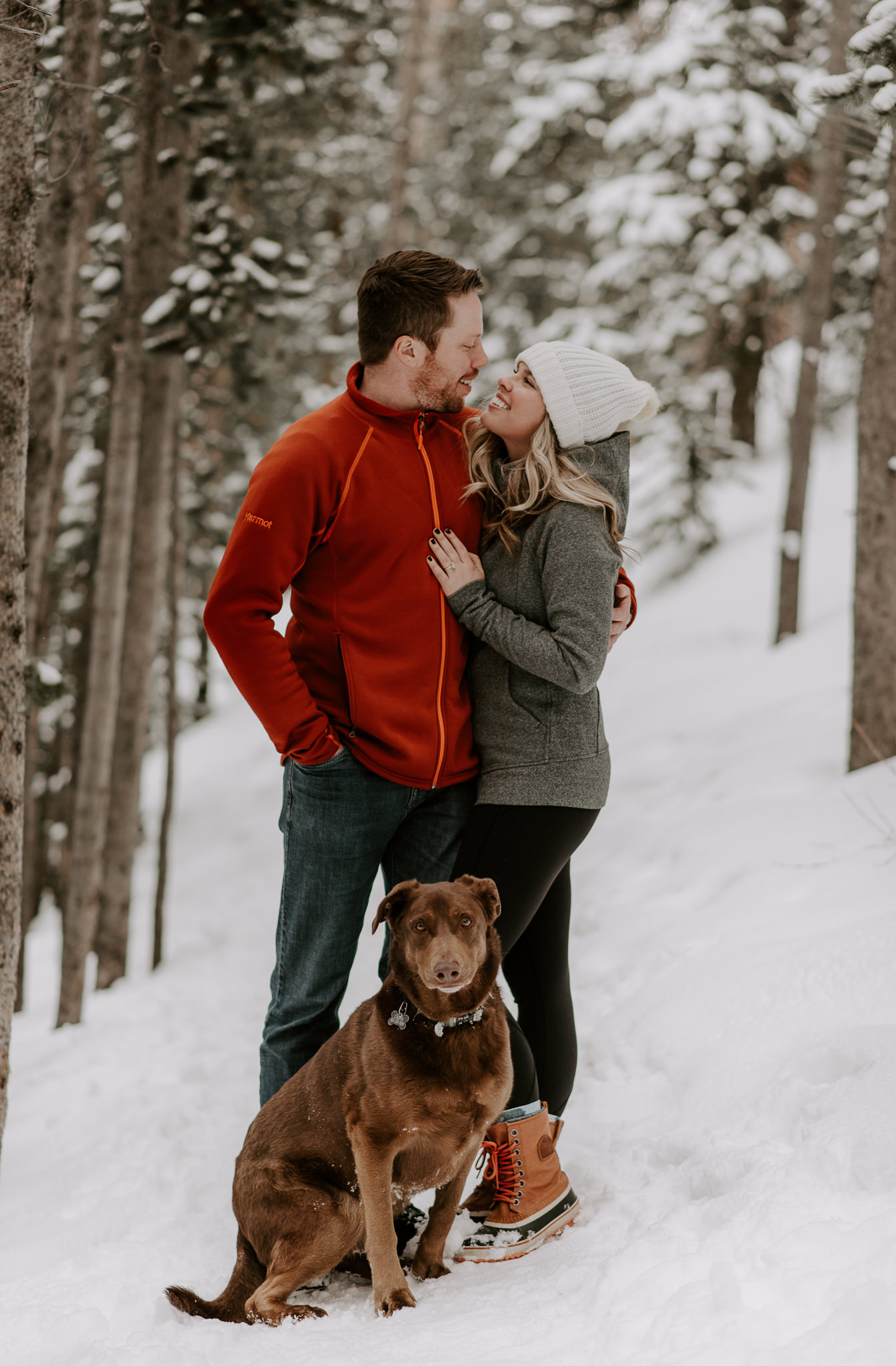 Winter adventure engagement session in Colorado at Boreas Pass. Colorado elopement photographer.