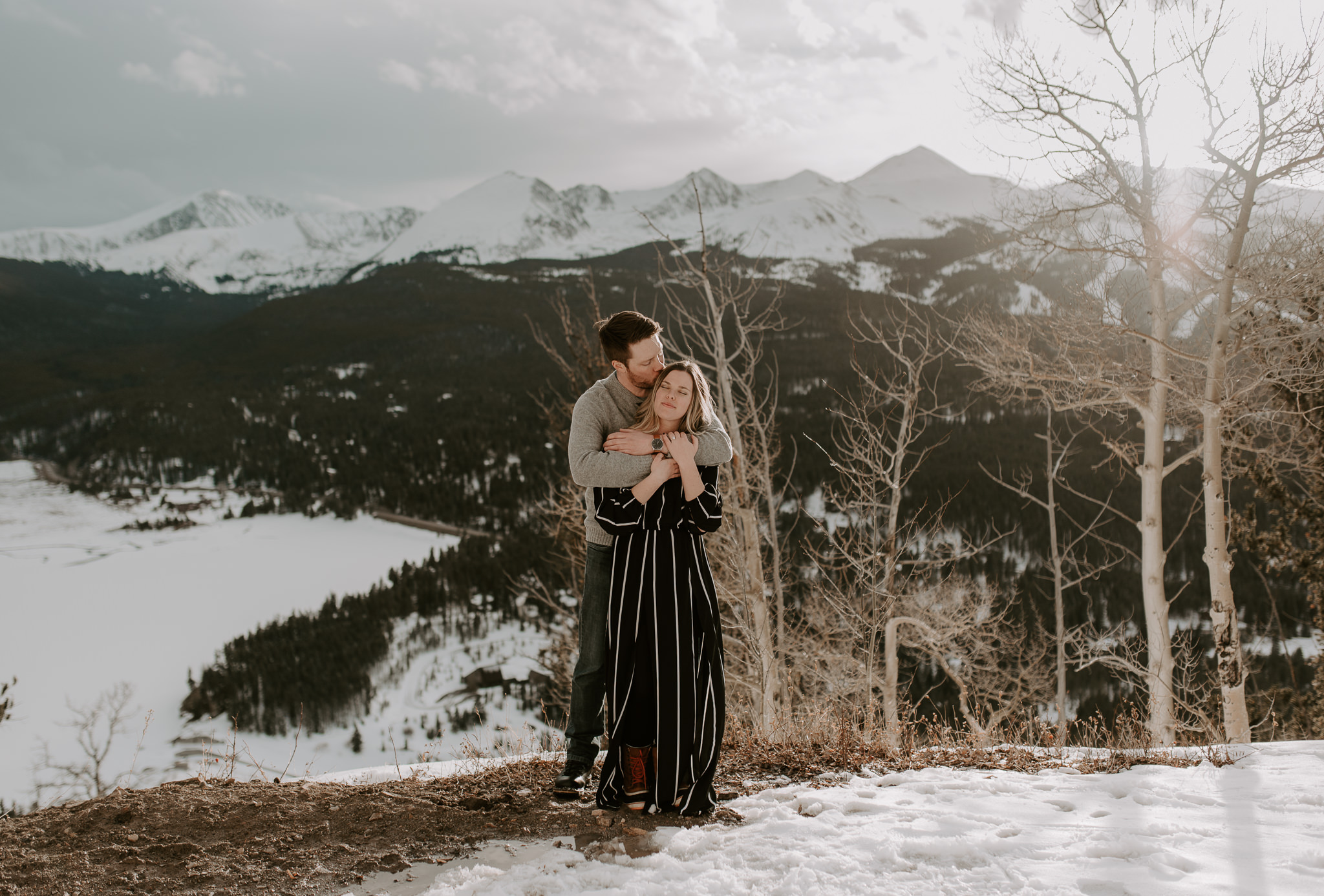 Intimate mountain wedding in Colorado. Colorado wedding and elopement photographer.