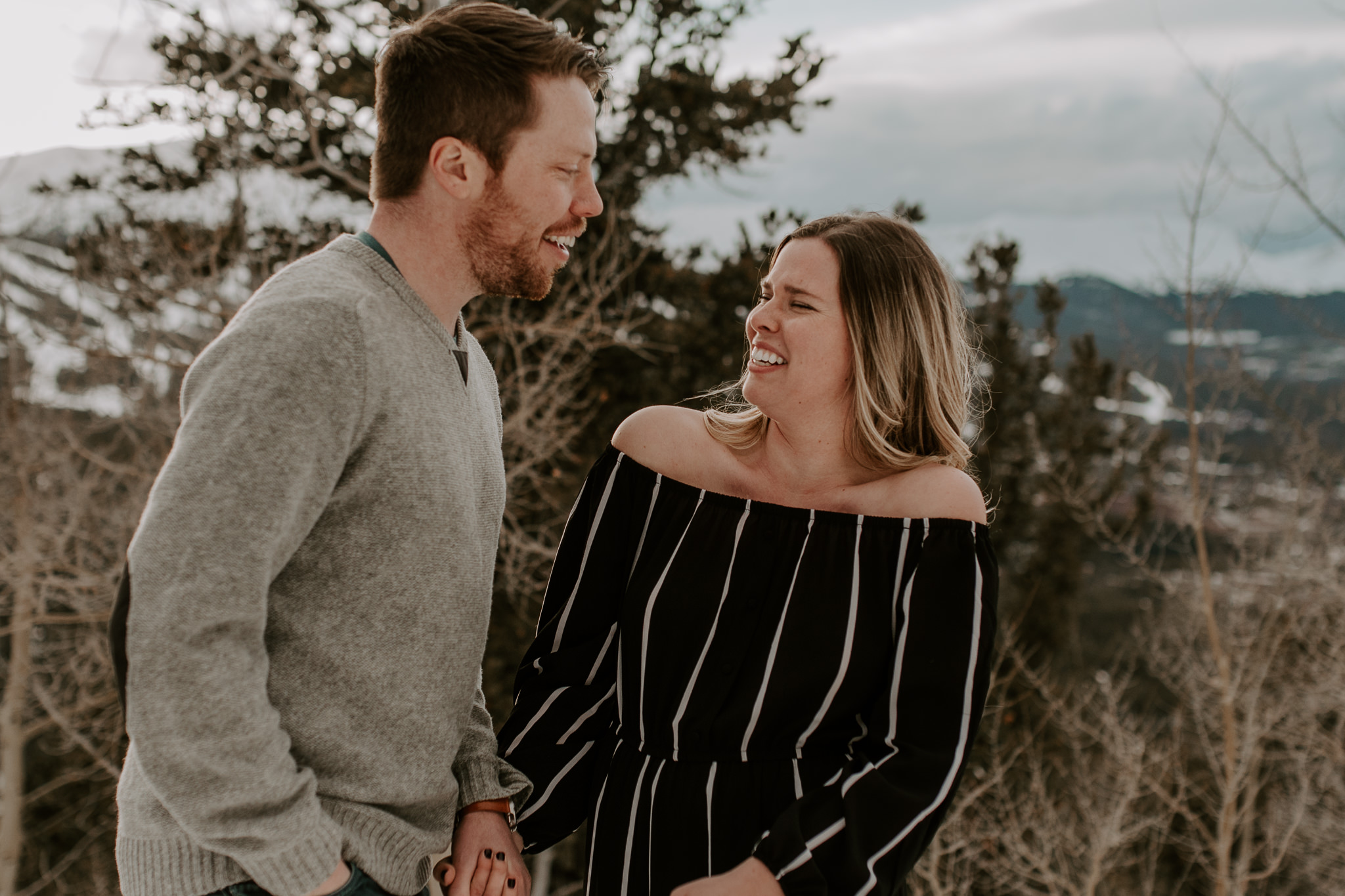 Boreas Pass engagement session photography