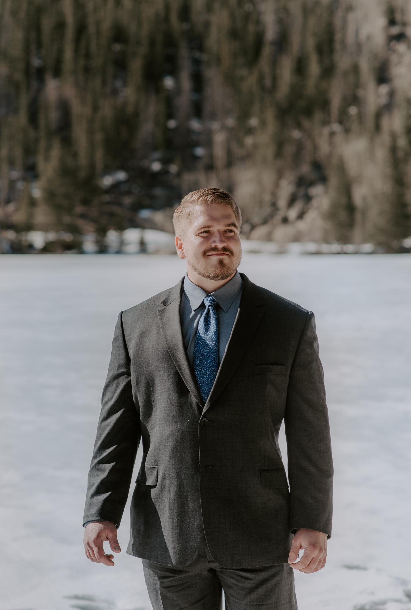 Rocky Mountain National Park elopement at Bear Lake.