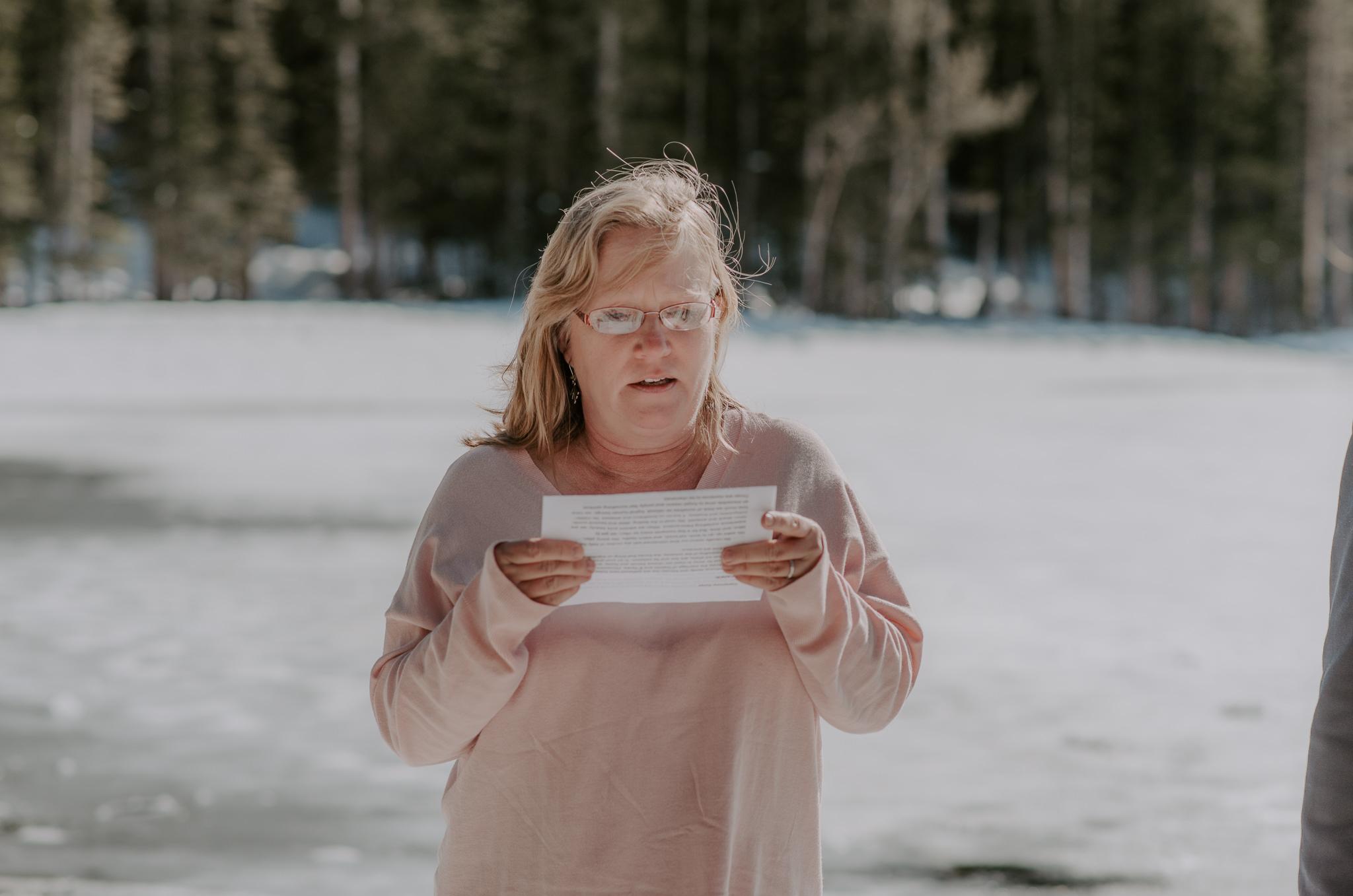 Colorado adventure elopement photographer. Elopement at Bear Lake in Rocky Mountain National Park.