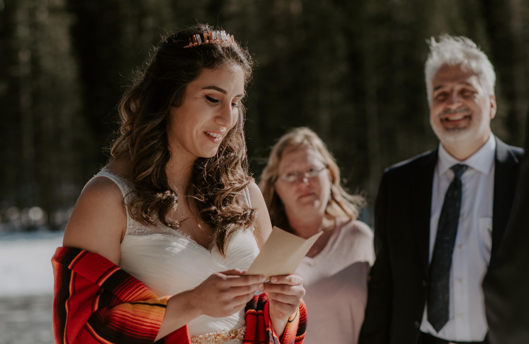 RMNP Bear Lake winter elopement. Colorado elopement and wedding photographer.