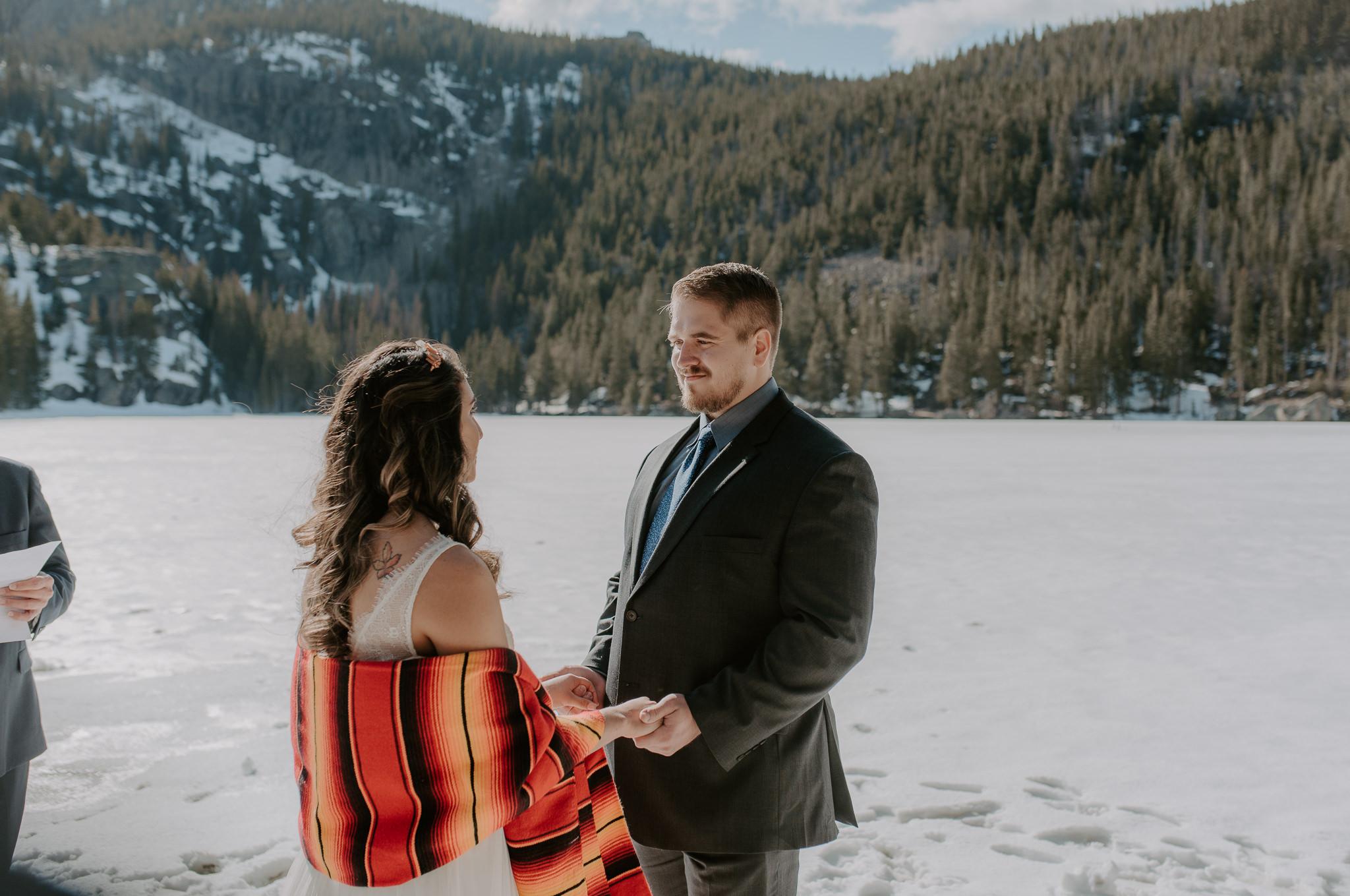 Rocky Mountain National Park elopement photographer. Colorado adventure wedding.