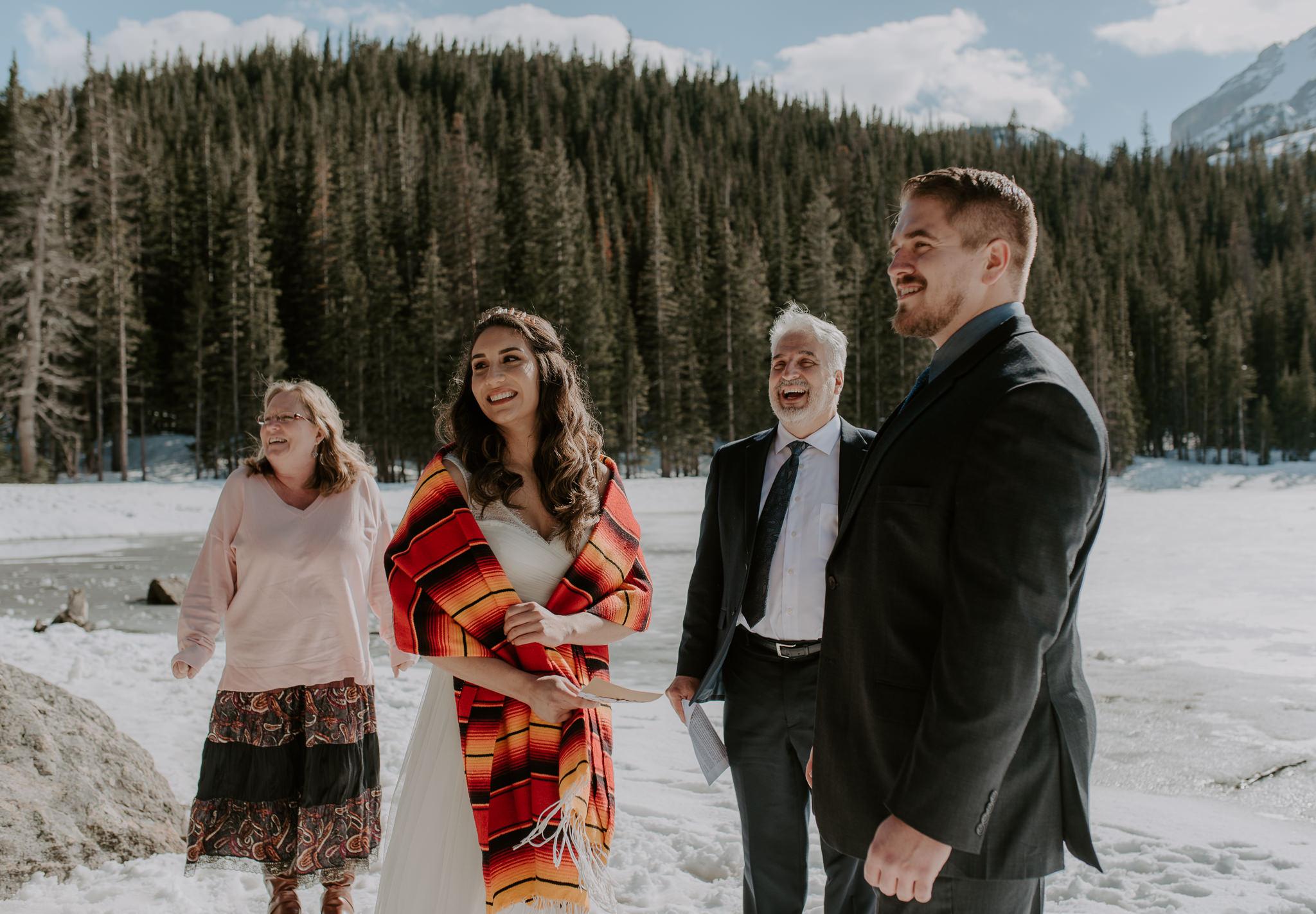 Bear Lake elopement in Rocky Mountain National Park photos.