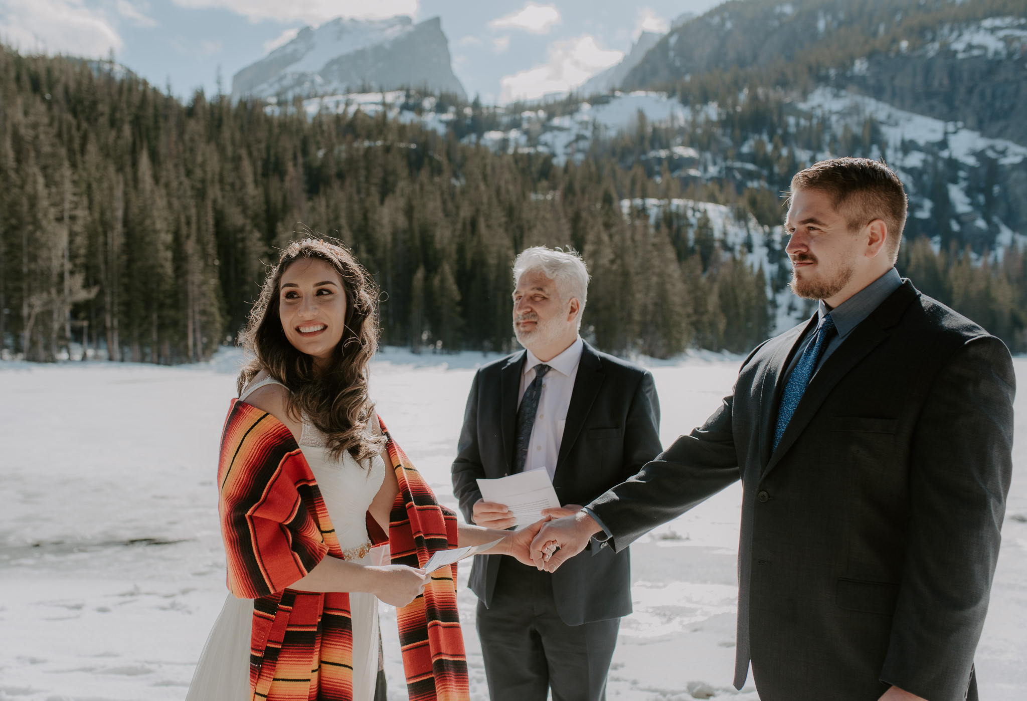 RMNP elopement at Bear Lake. Colorado wedding photographer.