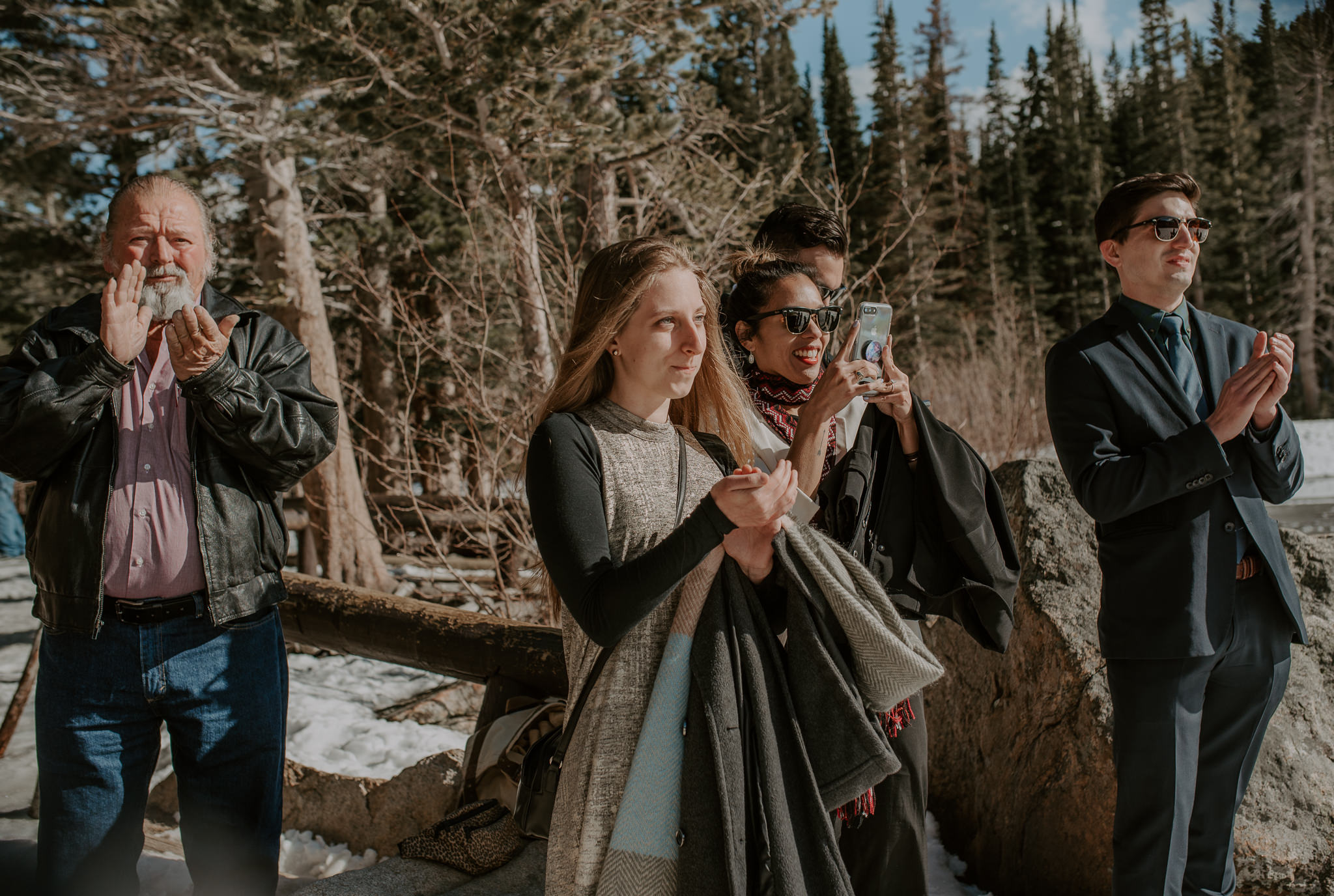 Ceremony at an elopement in Rocky Mountain National Park