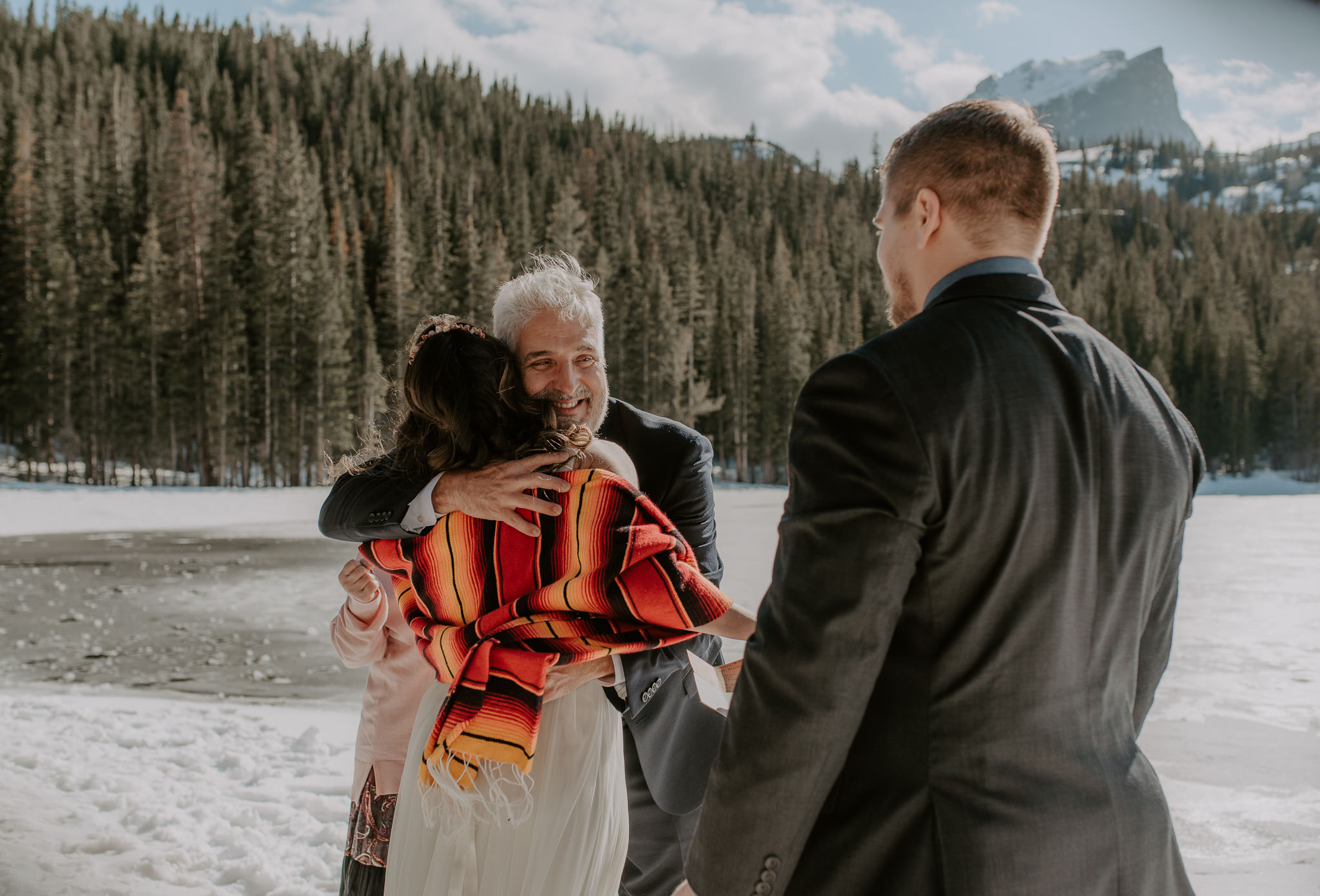 Wedding ceremony in Rocky Mountain National Park