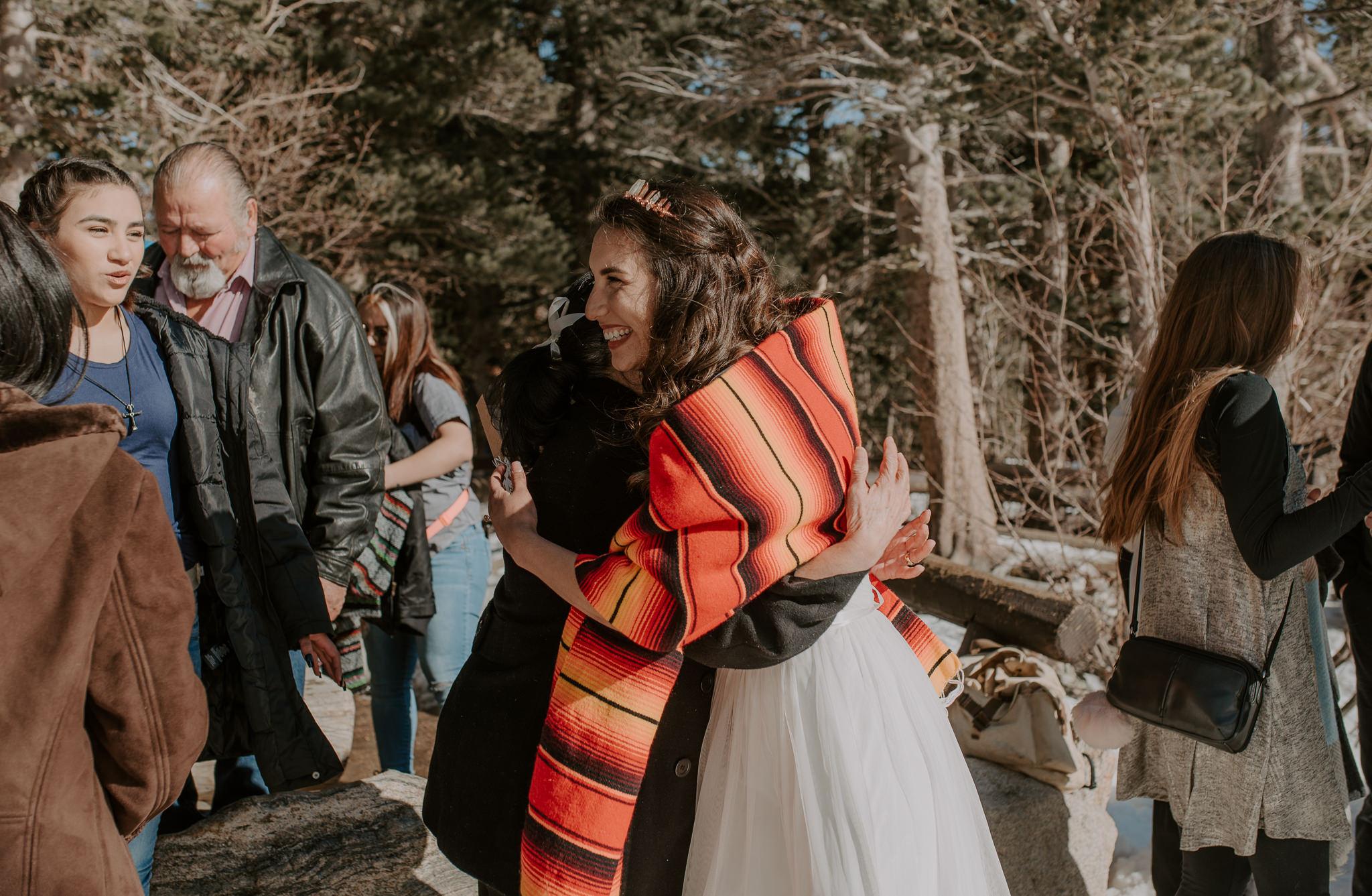 Wedding ceremony at Bear Lake. Colorado wedding photographer.