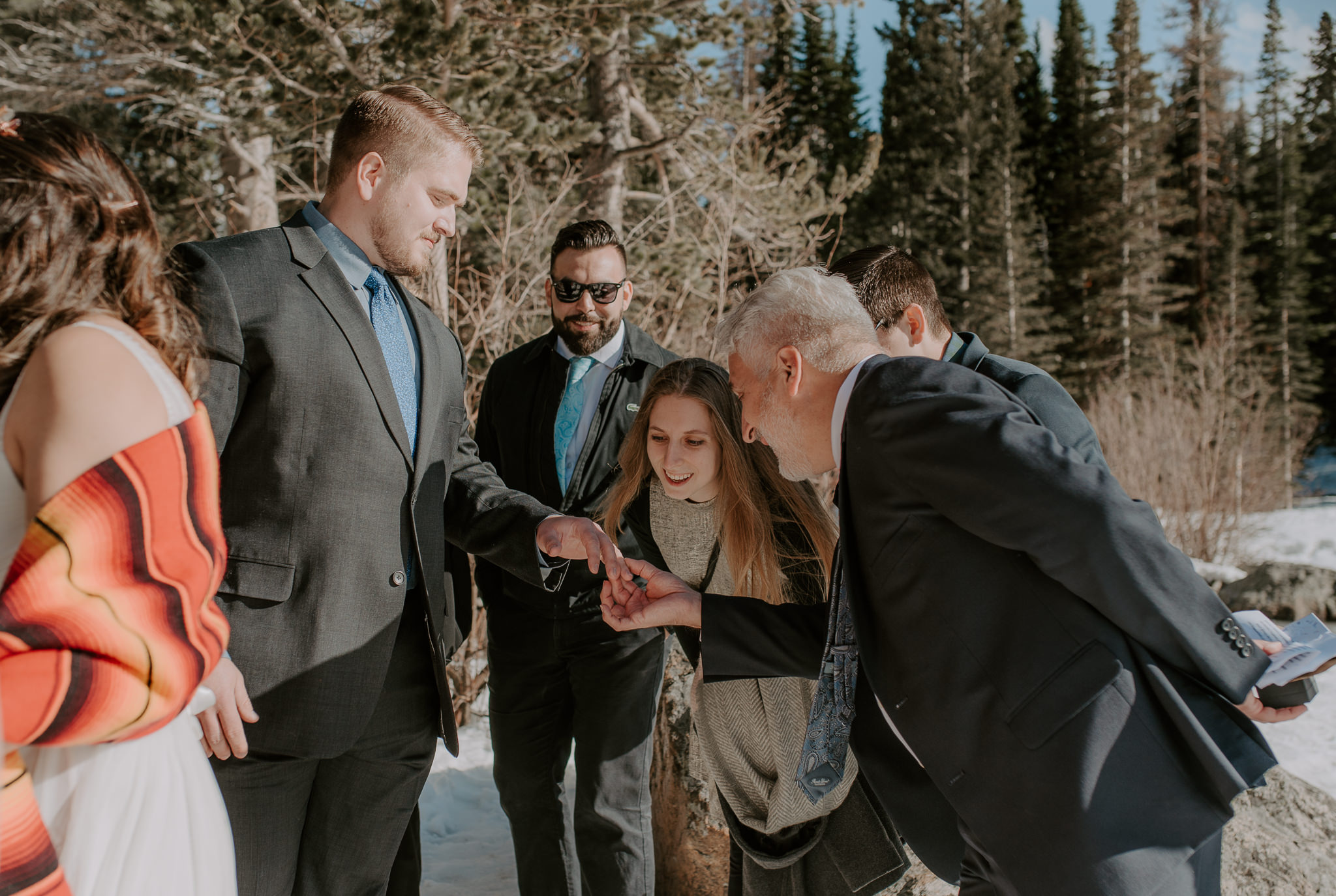 Elopement ceremony at Bear Lake in Colorado