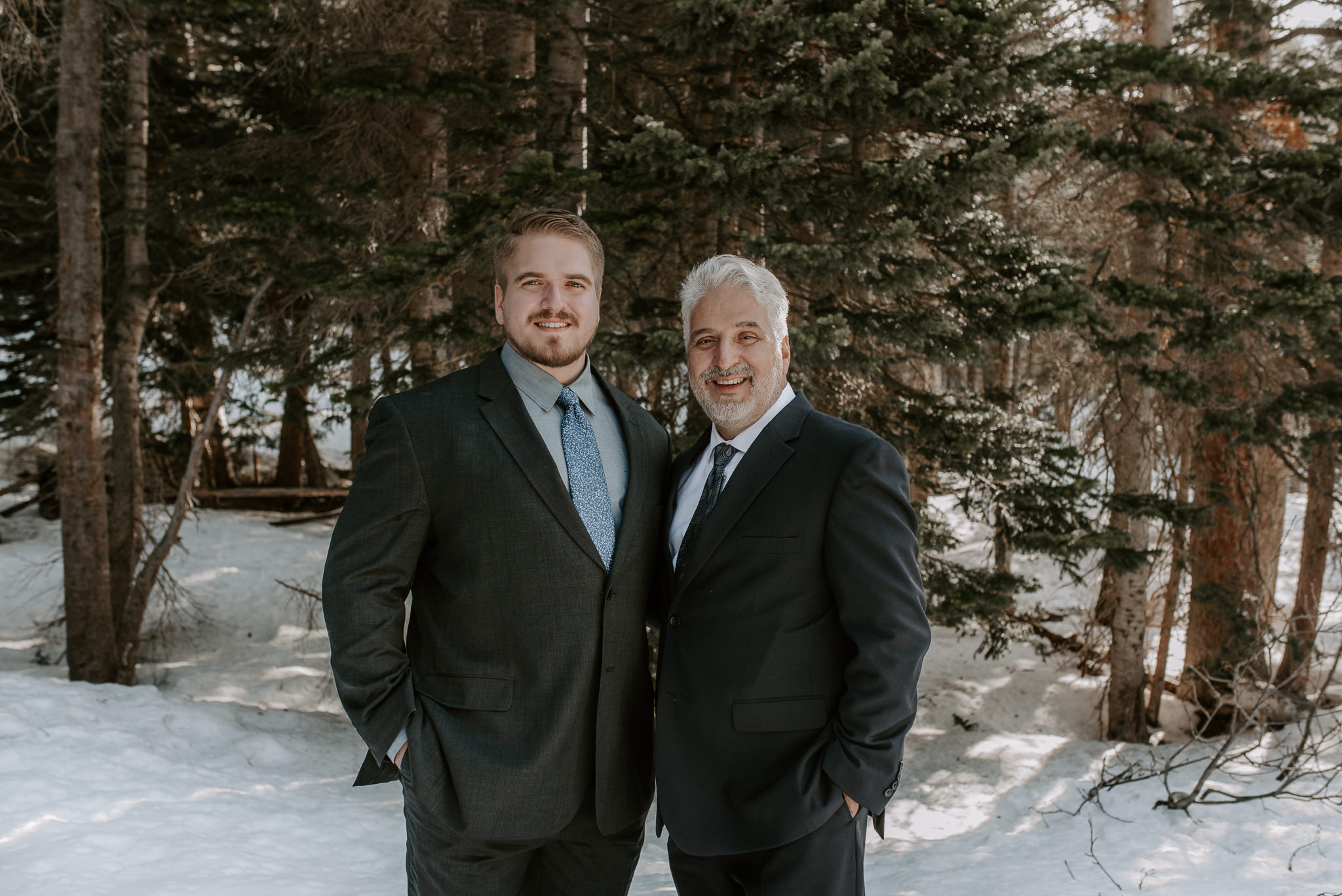 Adventure wedding at Bear Lake in Rocky Mountain National Park