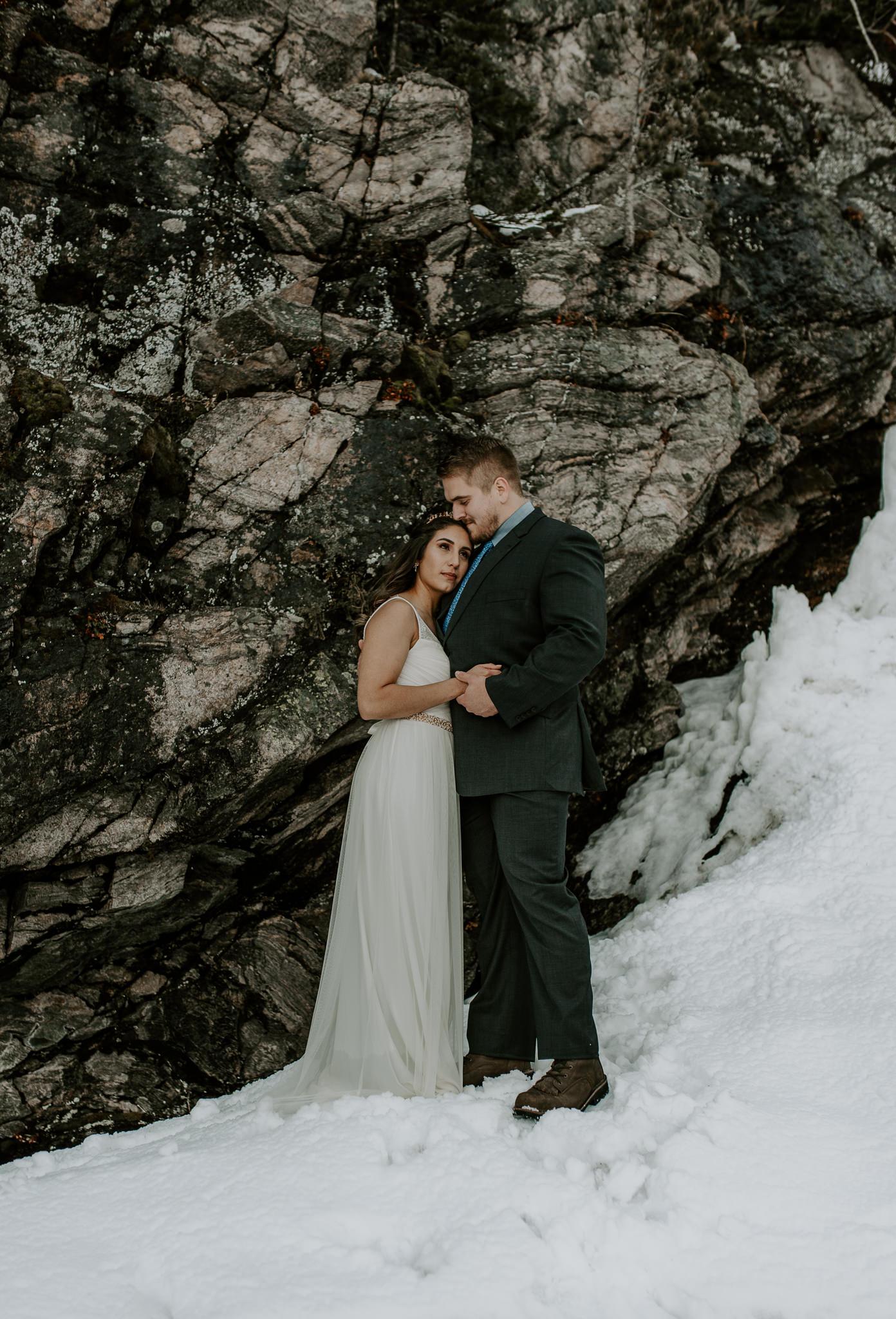 Hiking adventure elopement in Colorado